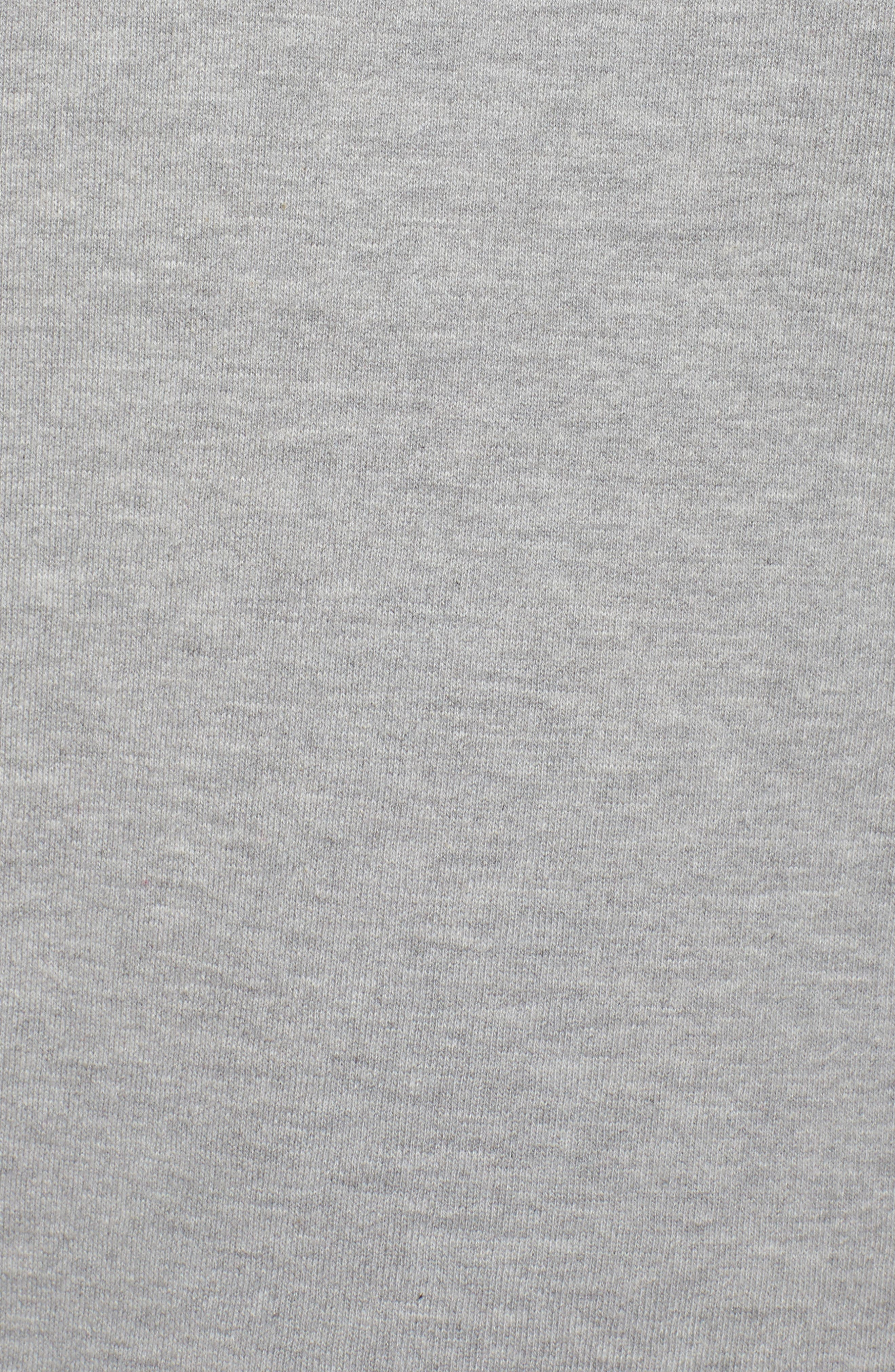 Raw Edge Pullover,                             Alternate thumbnail 7, color,                             Heather Grey