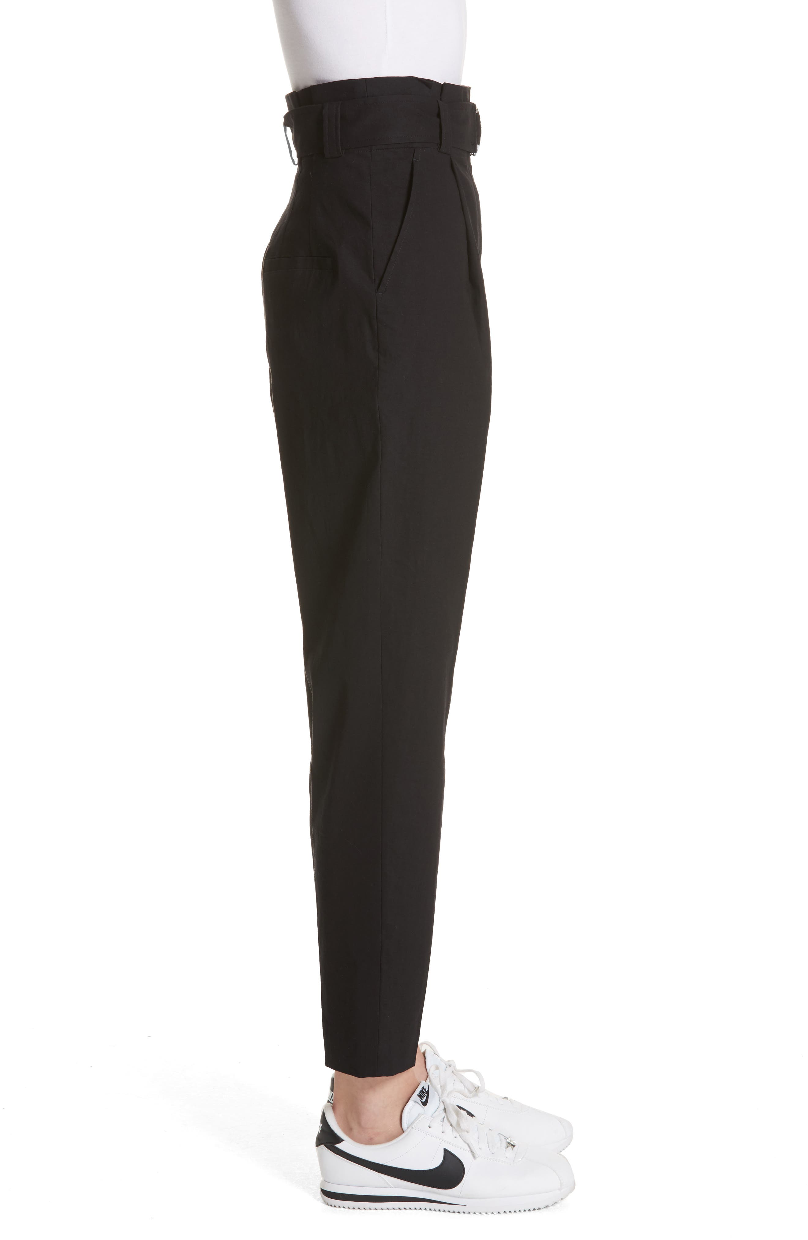 Diego High Waist Pants,                             Alternate thumbnail 3, color,                             Black