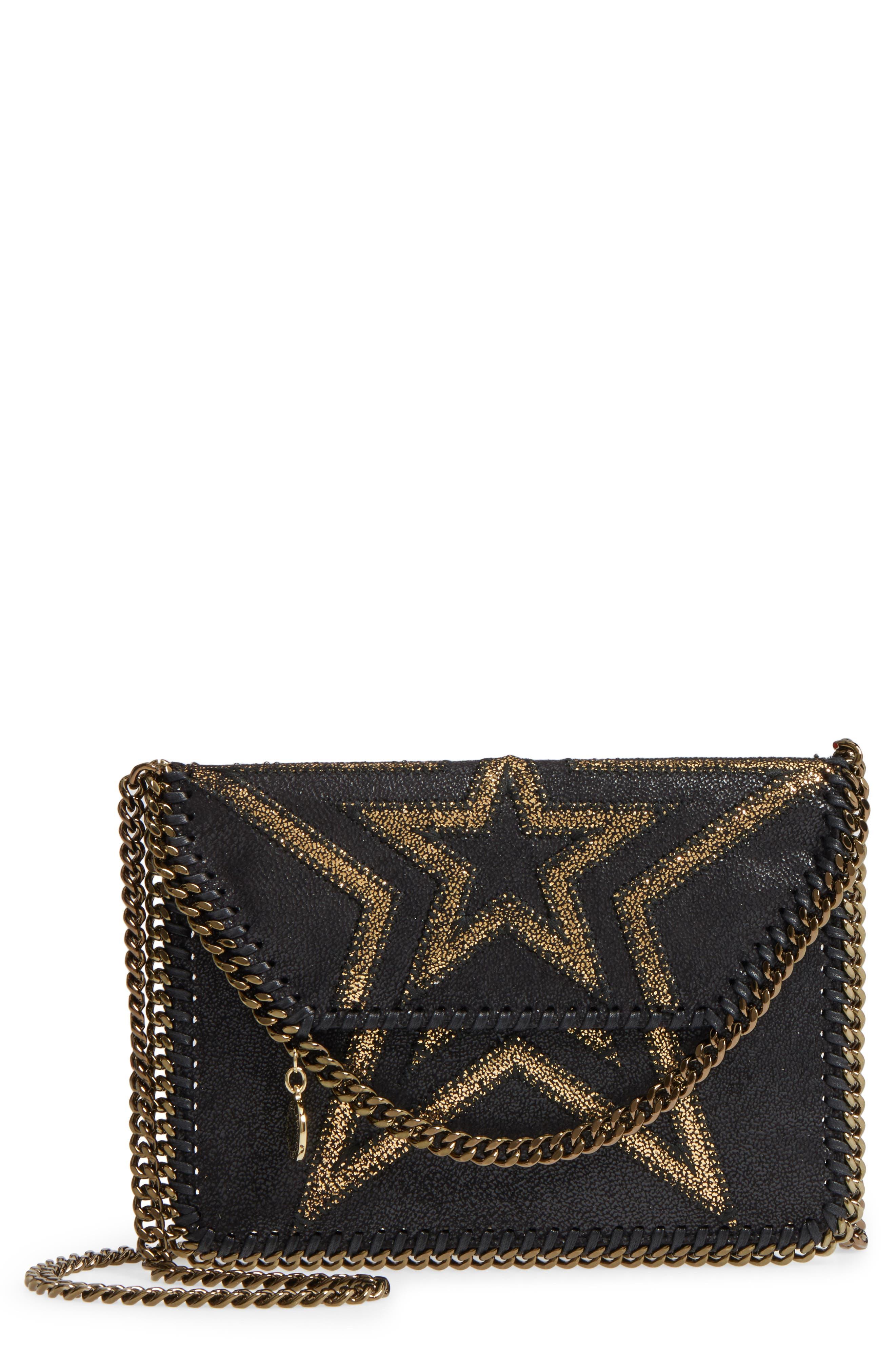 Stella McCartney Mini Star - Shaggy Faux Leather Crossbody