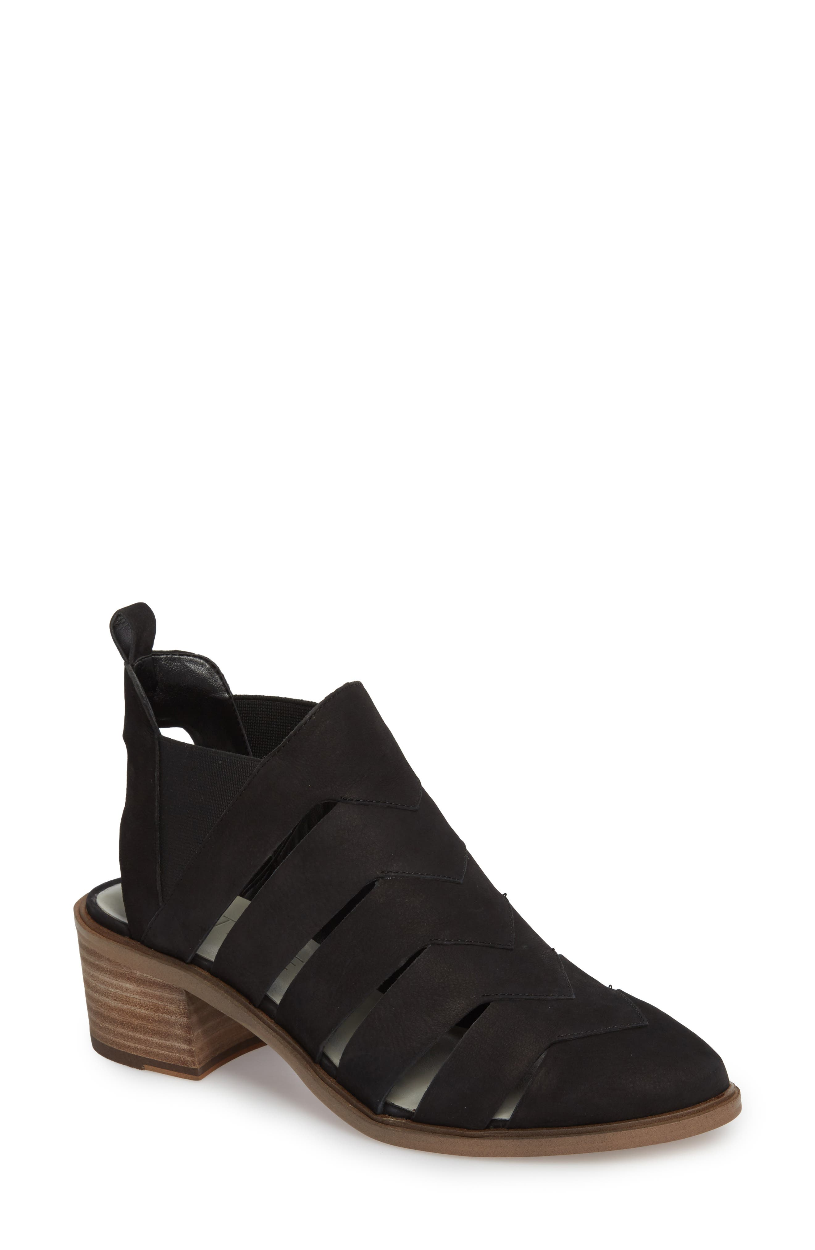 Amilee Bootie,                         Main,                         color, Black Nubuck Leather