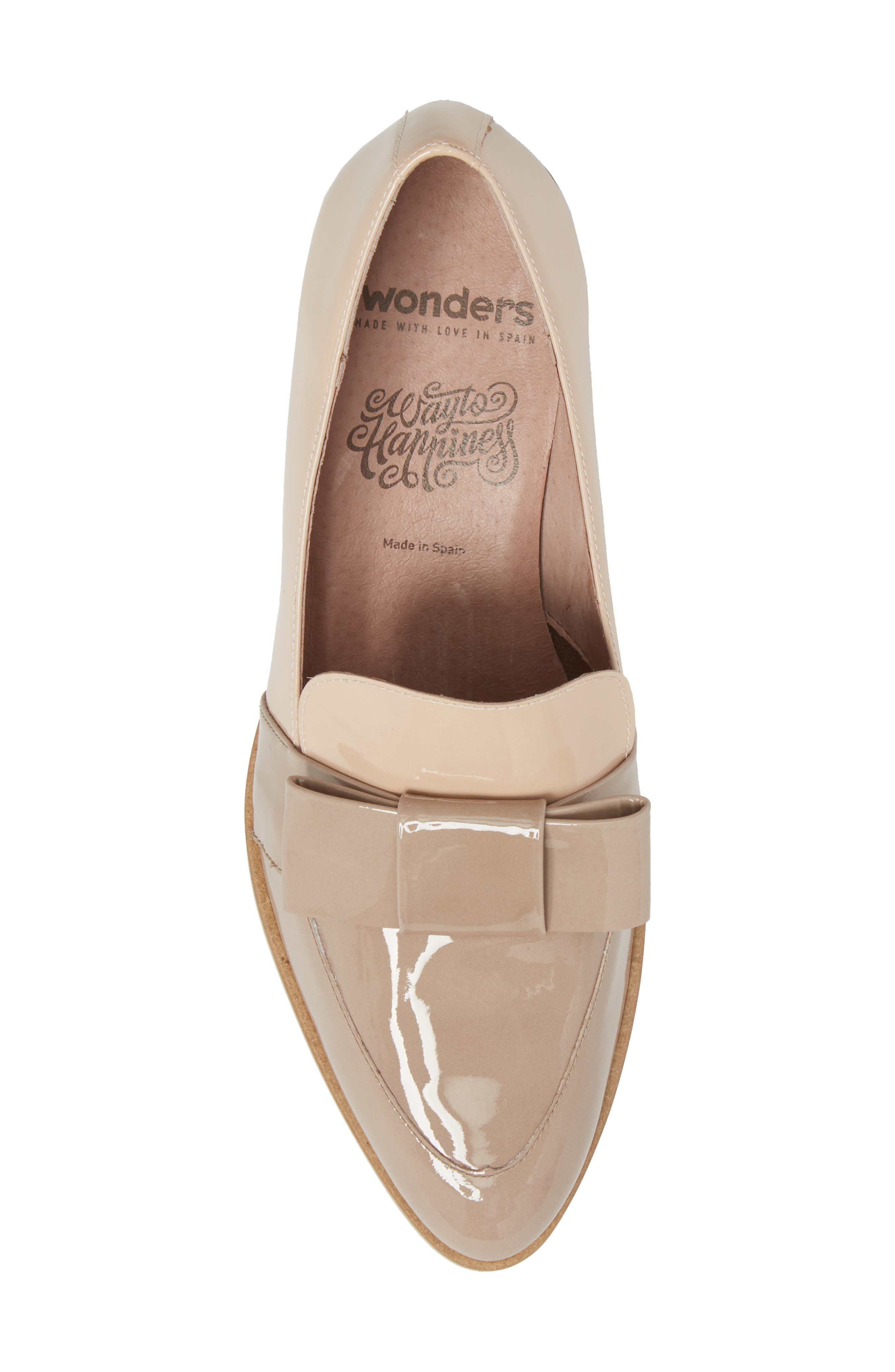 Block Heel Loafer Pump,                             Alternate thumbnail 5, color,                             Taupe/ Palo Patent Leather