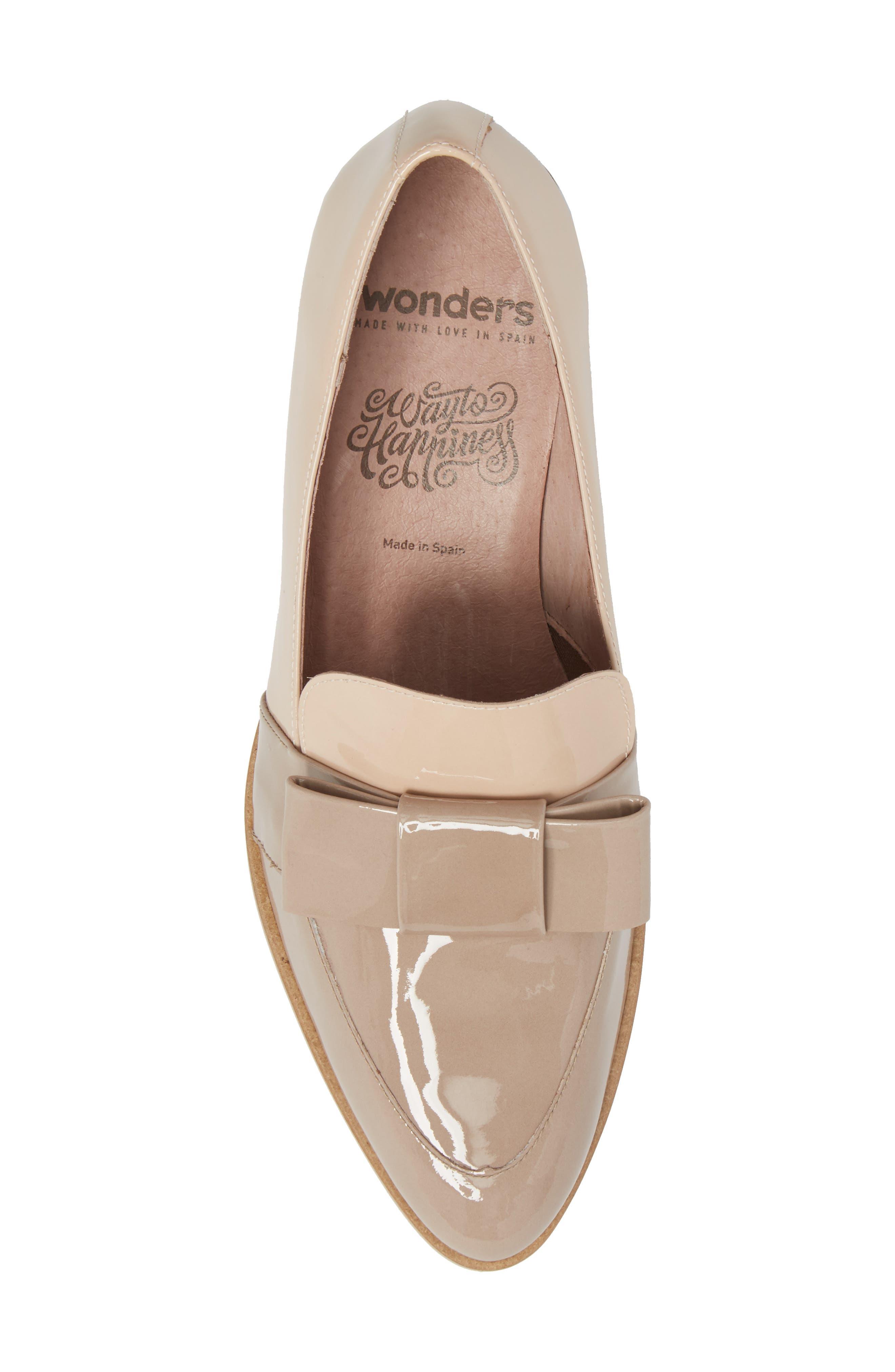 Alternate Image 5  - Wonders Block Heel Loafer Pump (Women)