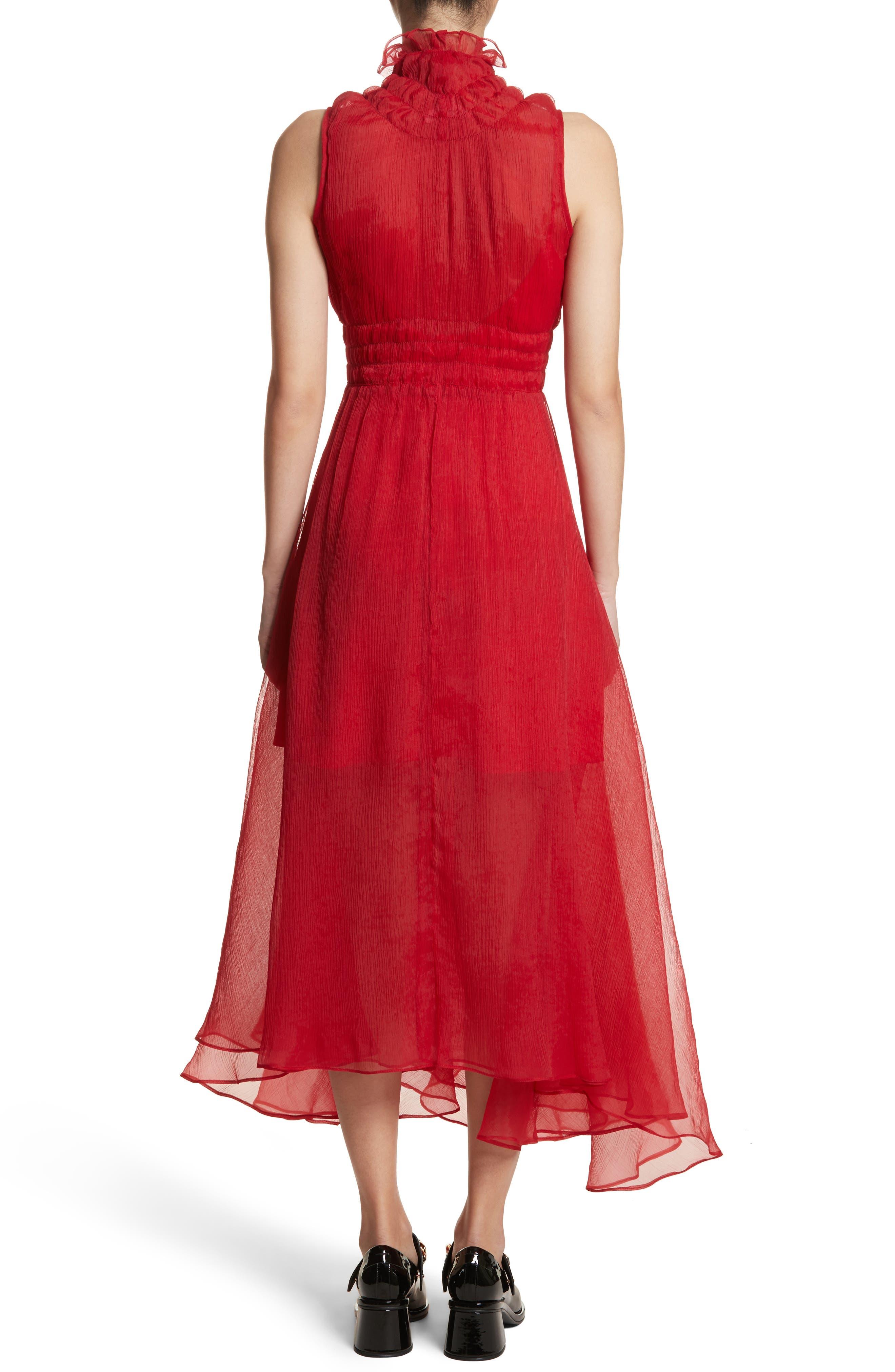 Venus Chiffon Dress,                             Alternate thumbnail 2, color,                             Red