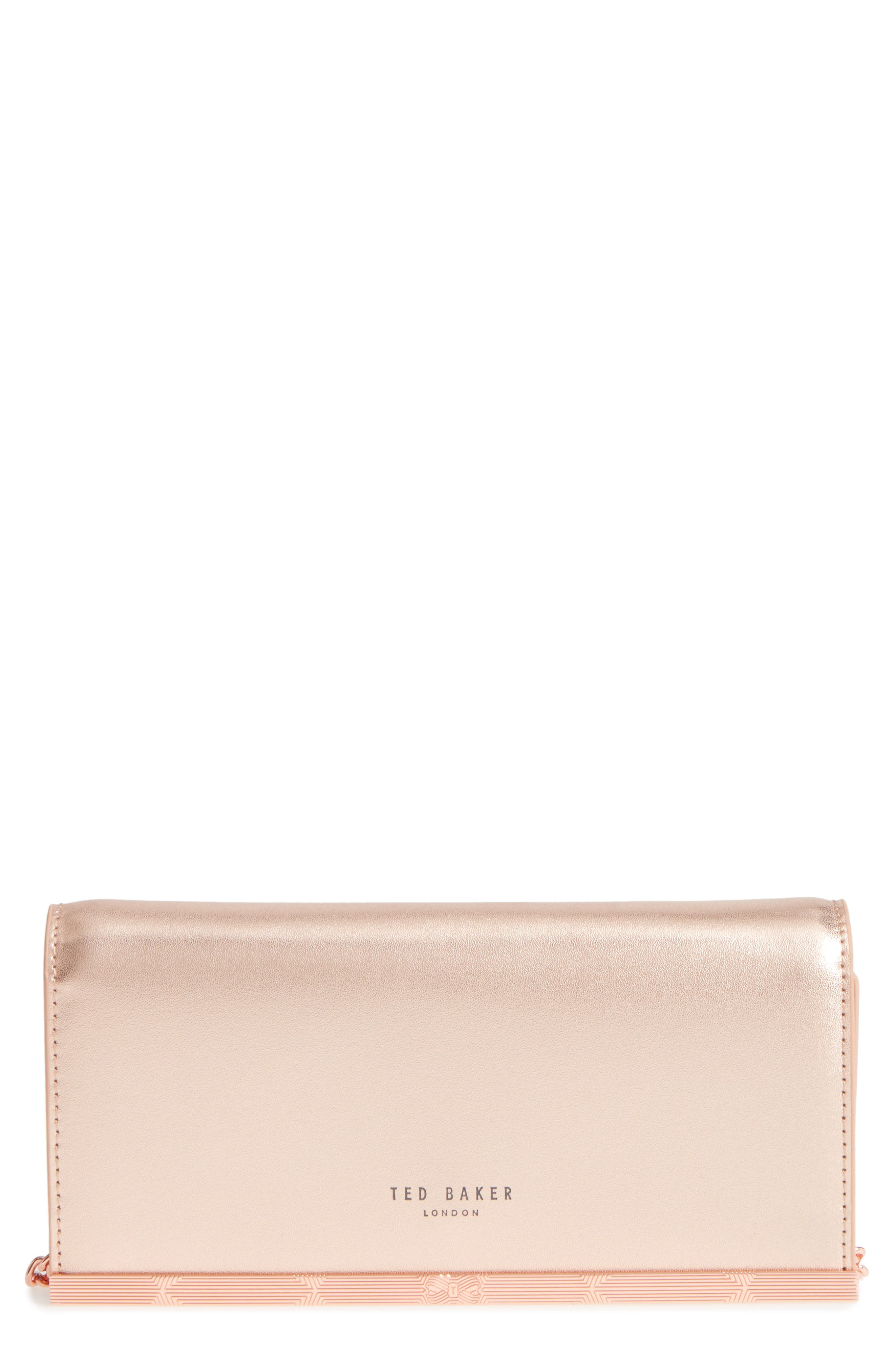 Ted Baker London Leather Matinée Wallet on a Chain