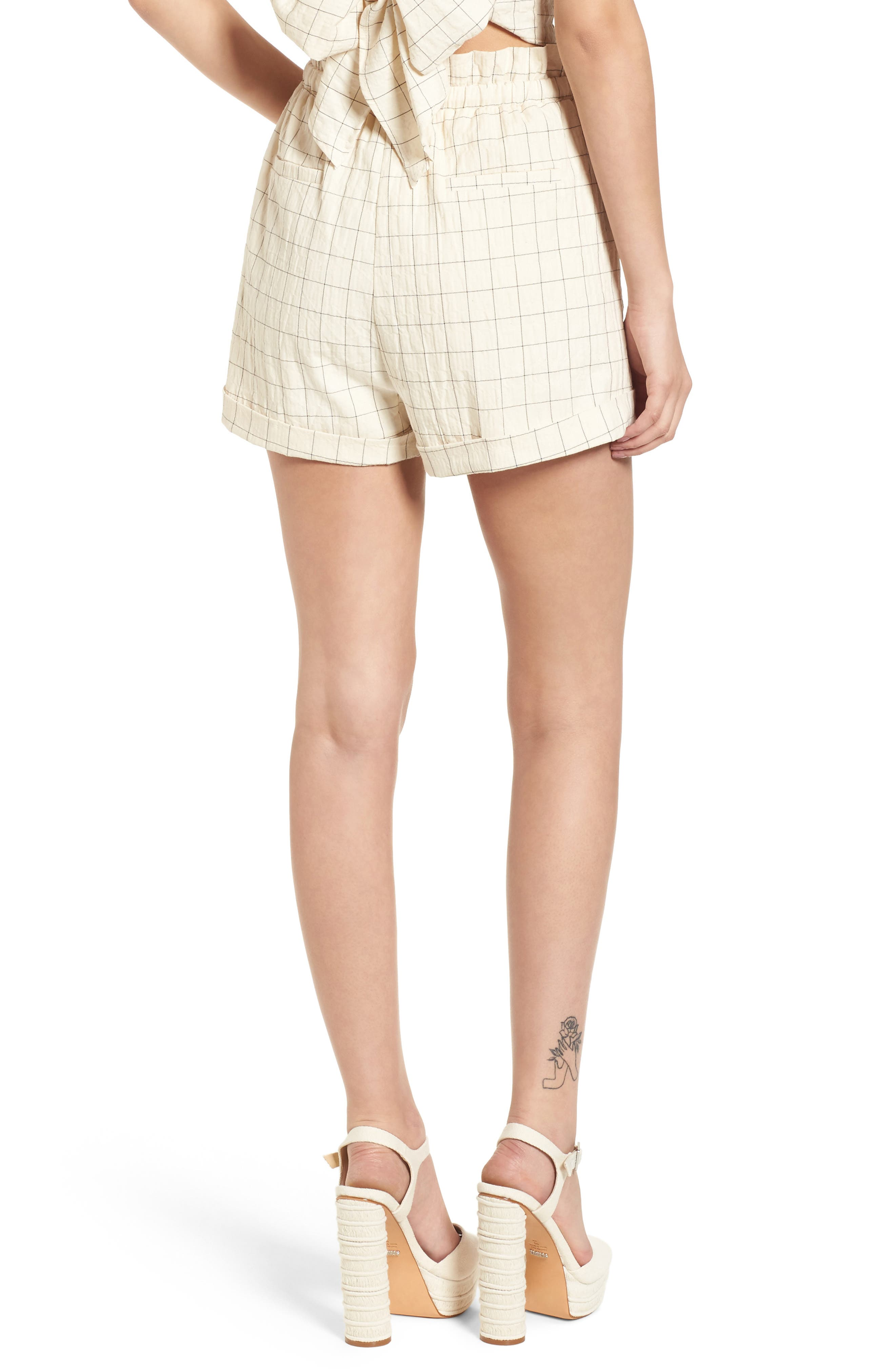 Drawstring Woven Shorts,                             Alternate thumbnail 3, color,                             Beige