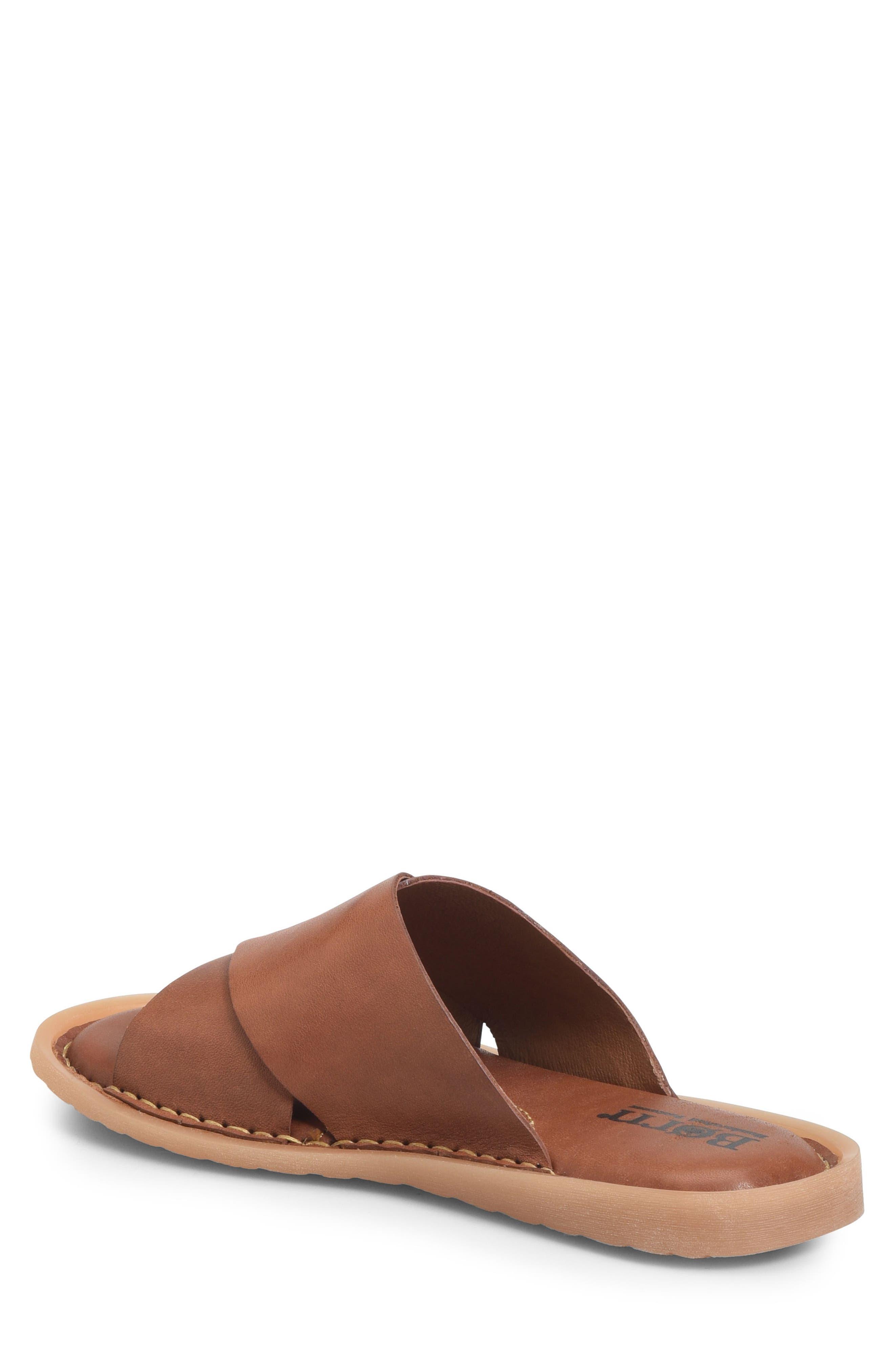 Getaway Slide Sandal,                             Alternate thumbnail 2, color,                             Rust Leather