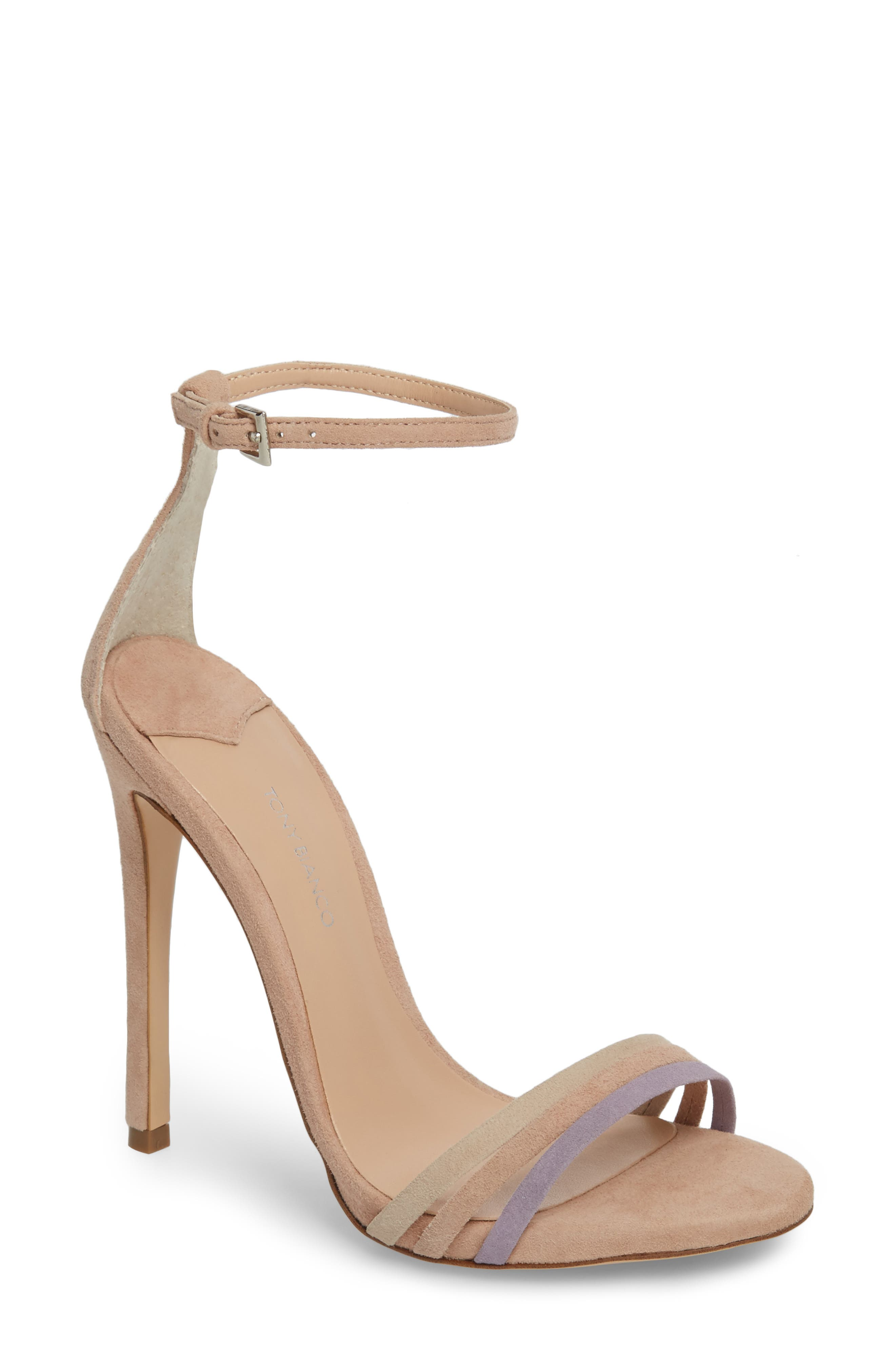 Aroma Strappy Sandal,                         Main,                         color, Blush Suede