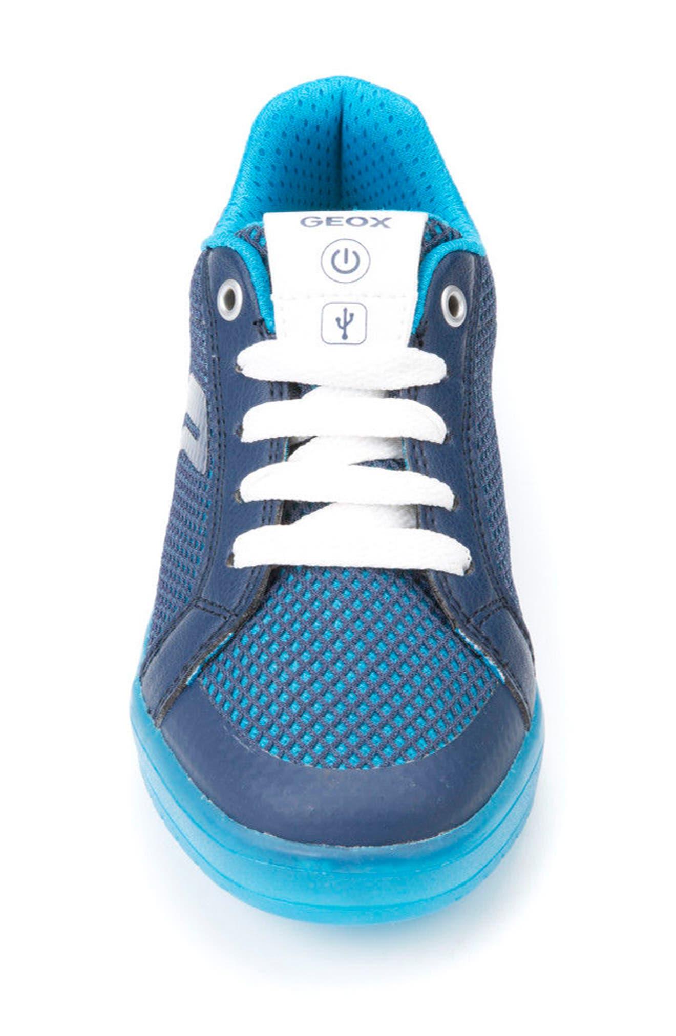 Kommodor Light-Up Mesh Sneaker,                             Alternate thumbnail 4, color,                             Navy/ Light Blue