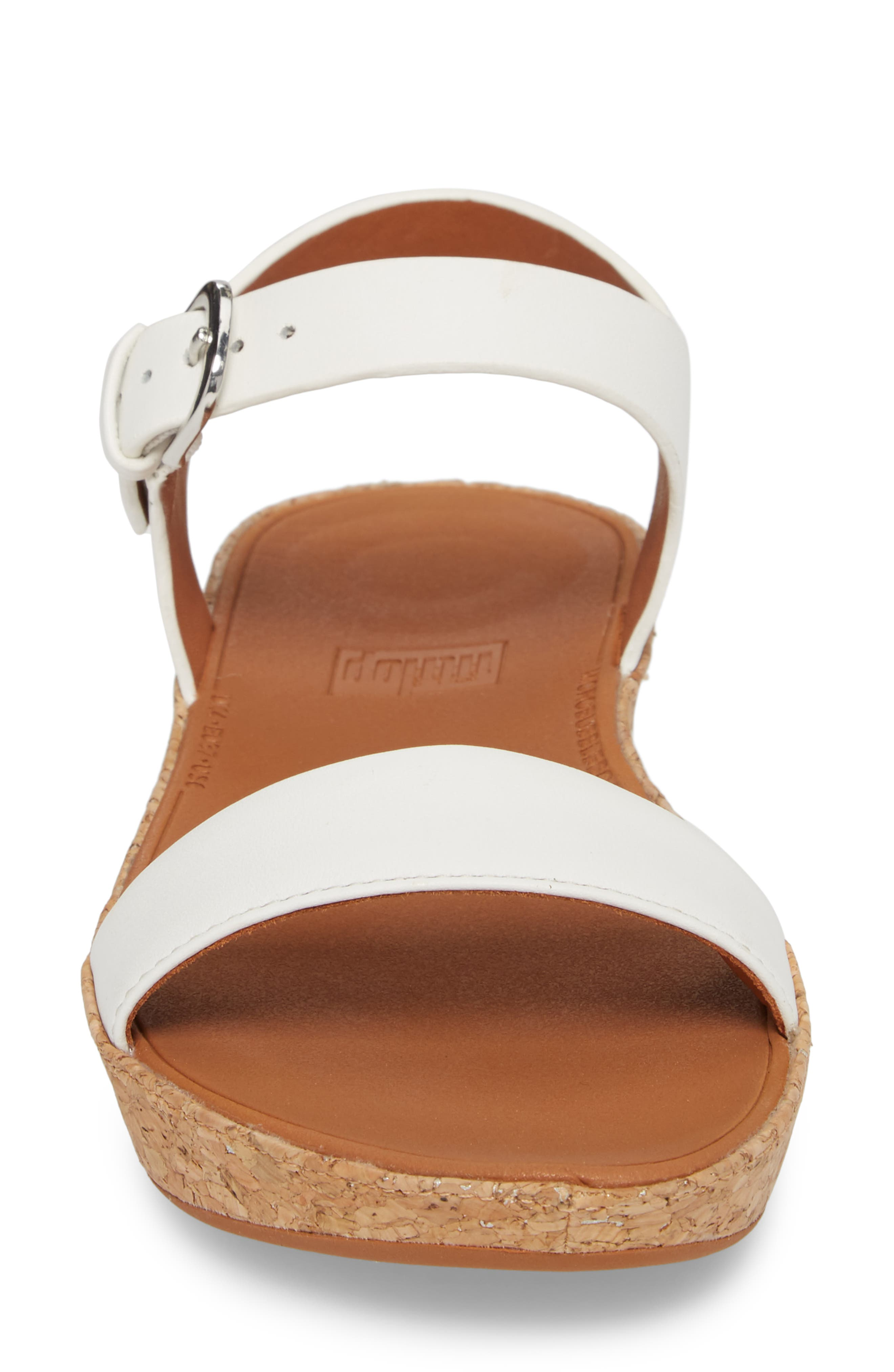 Bon II Platform Sandal,                             Alternate thumbnail 4, color,                             Urban White Leather
