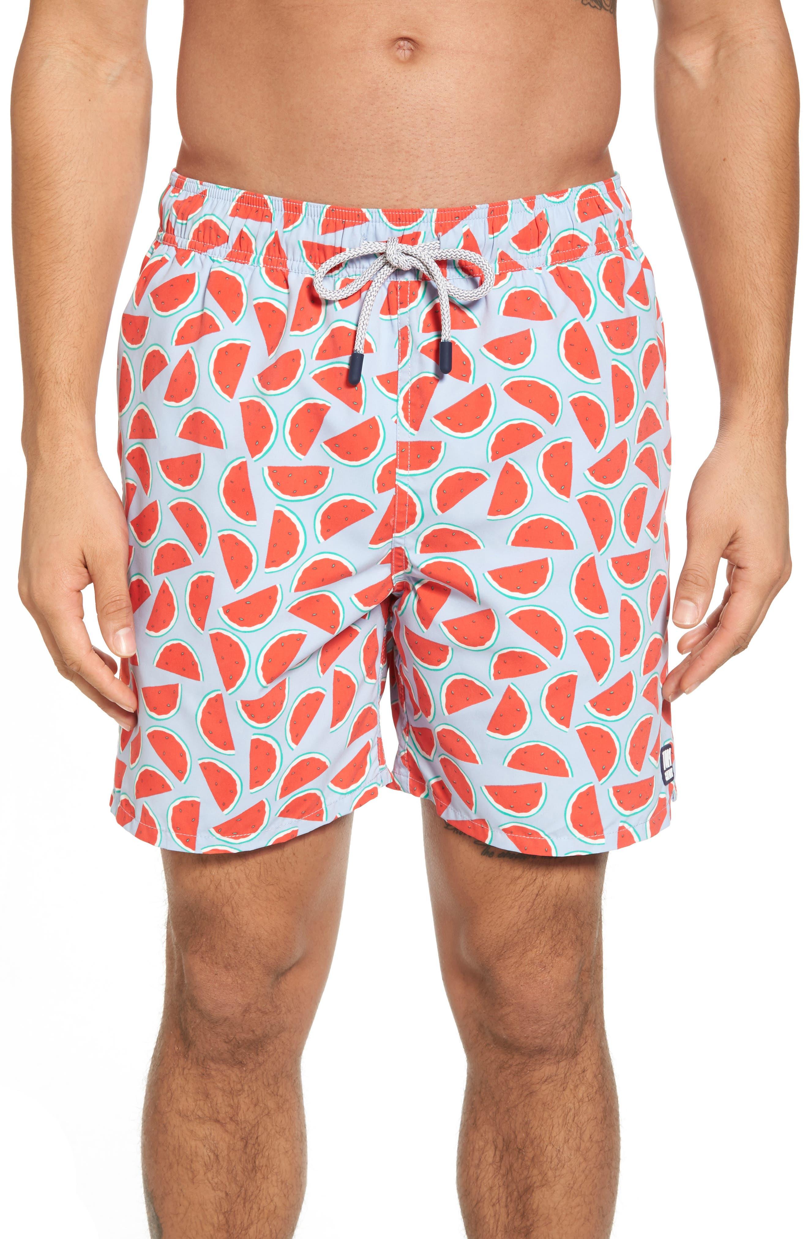 Tom & Teddy Watermelon Print Swim Trunks