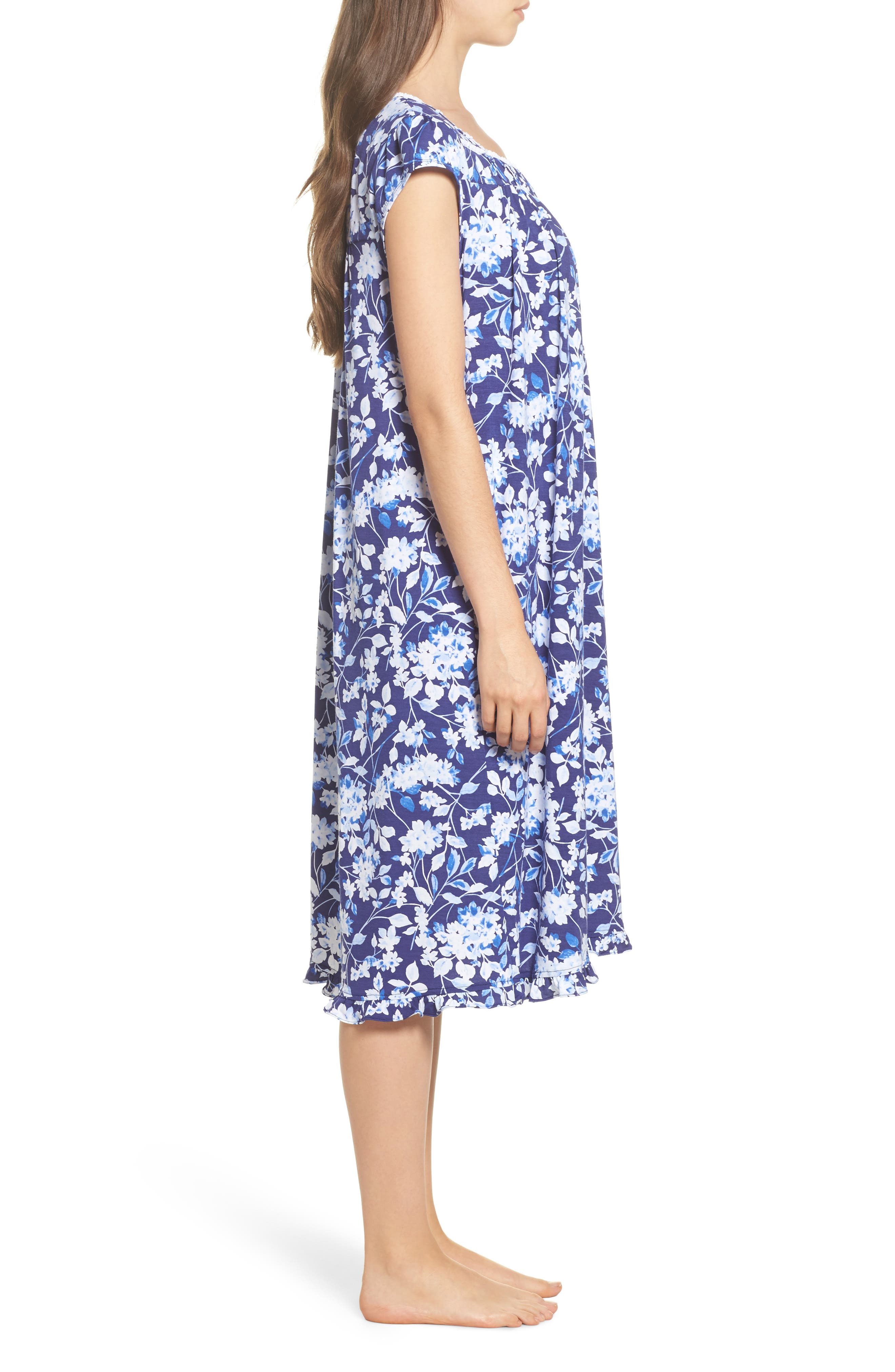 Waltz Nightgown,                             Alternate thumbnail 3, color,                             Blue Multi Floral