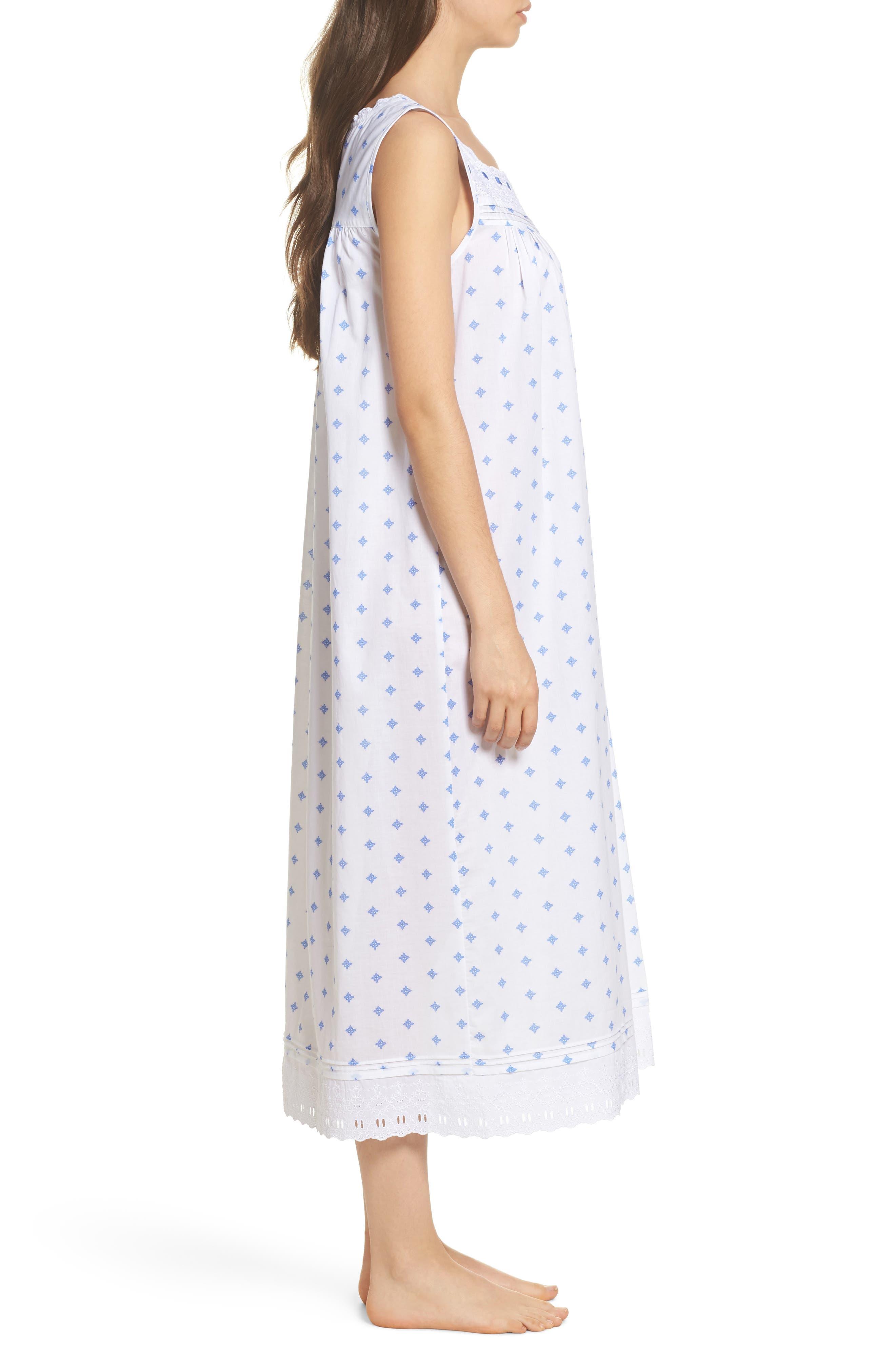 Ballet Nightgown,                             Alternate thumbnail 3, color,                             White Blue Geo