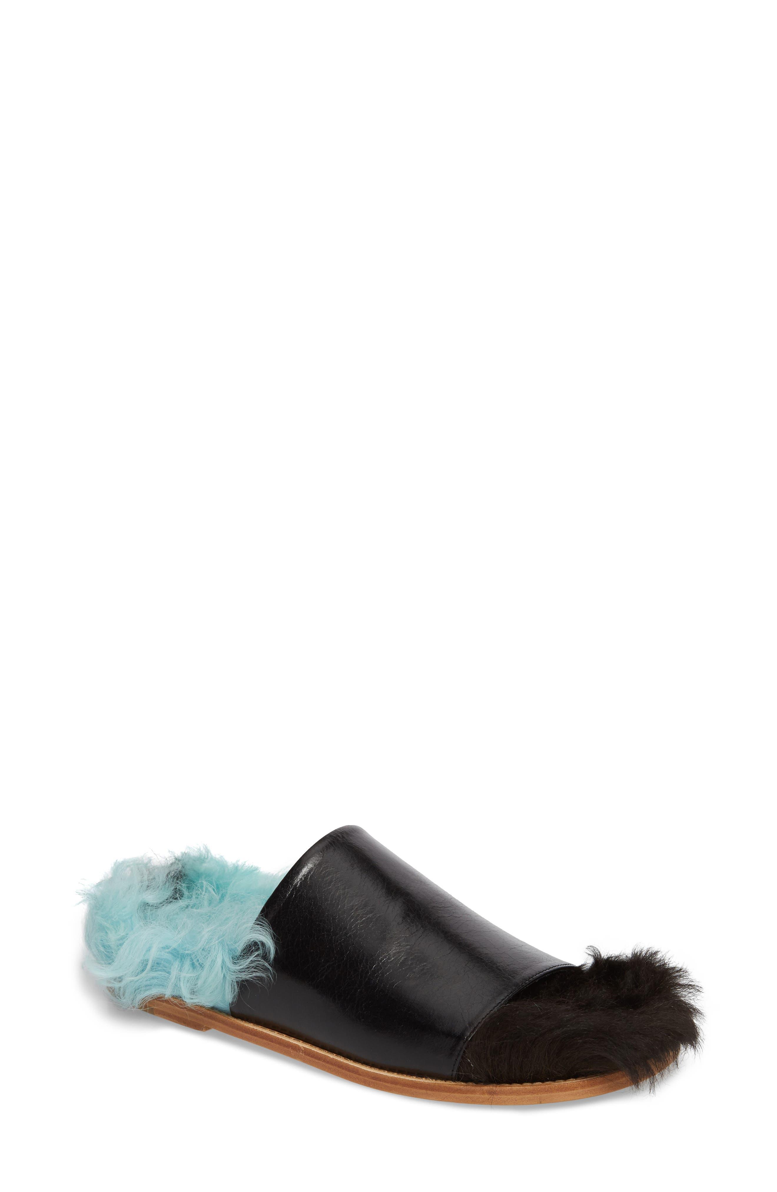 Marques'Almeida Genuine Shearling Slide Sandal (Women)