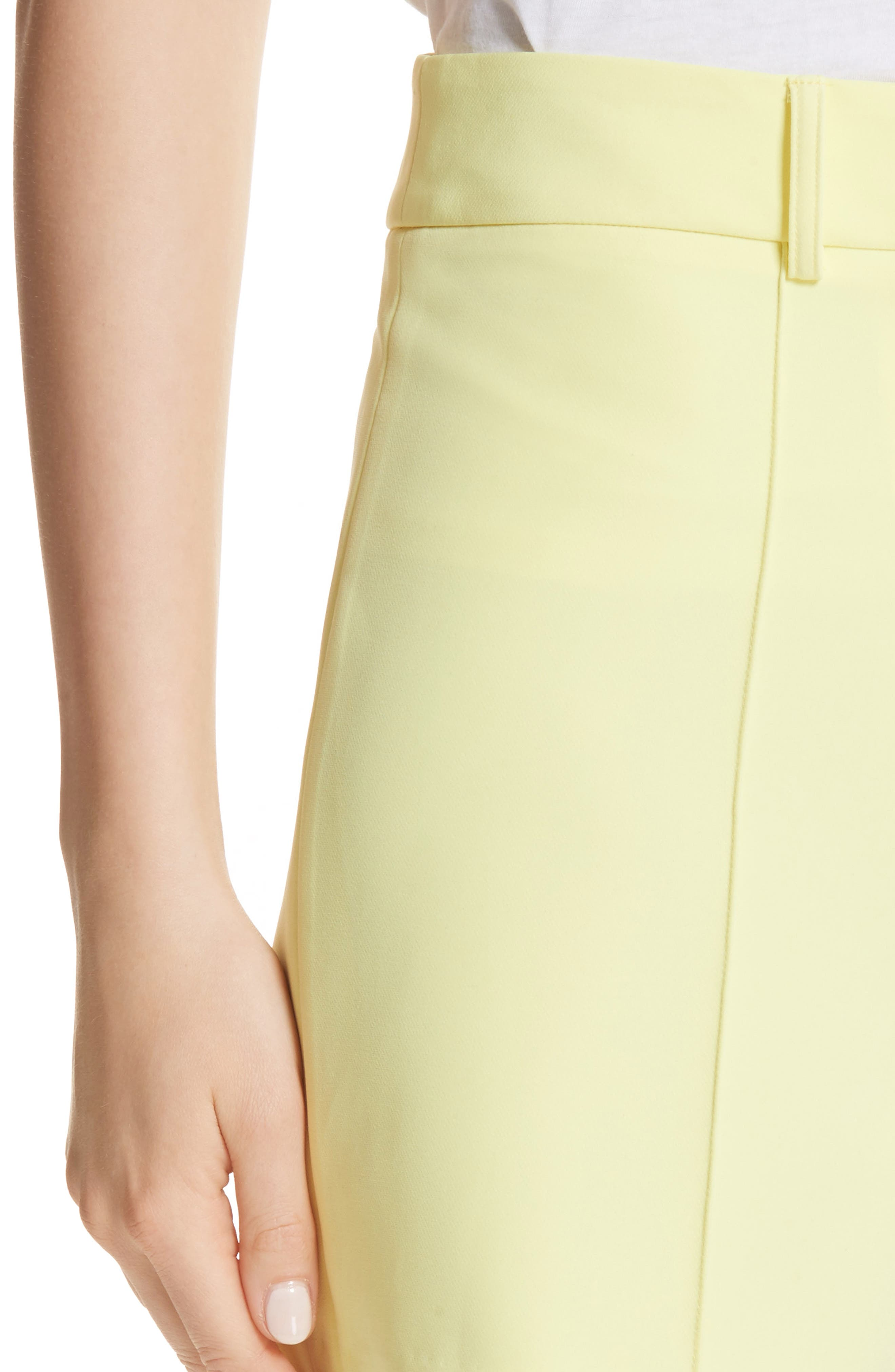 Hayden Trouser Shorts,                             Alternate thumbnail 4, color,                             Lemon Yellow