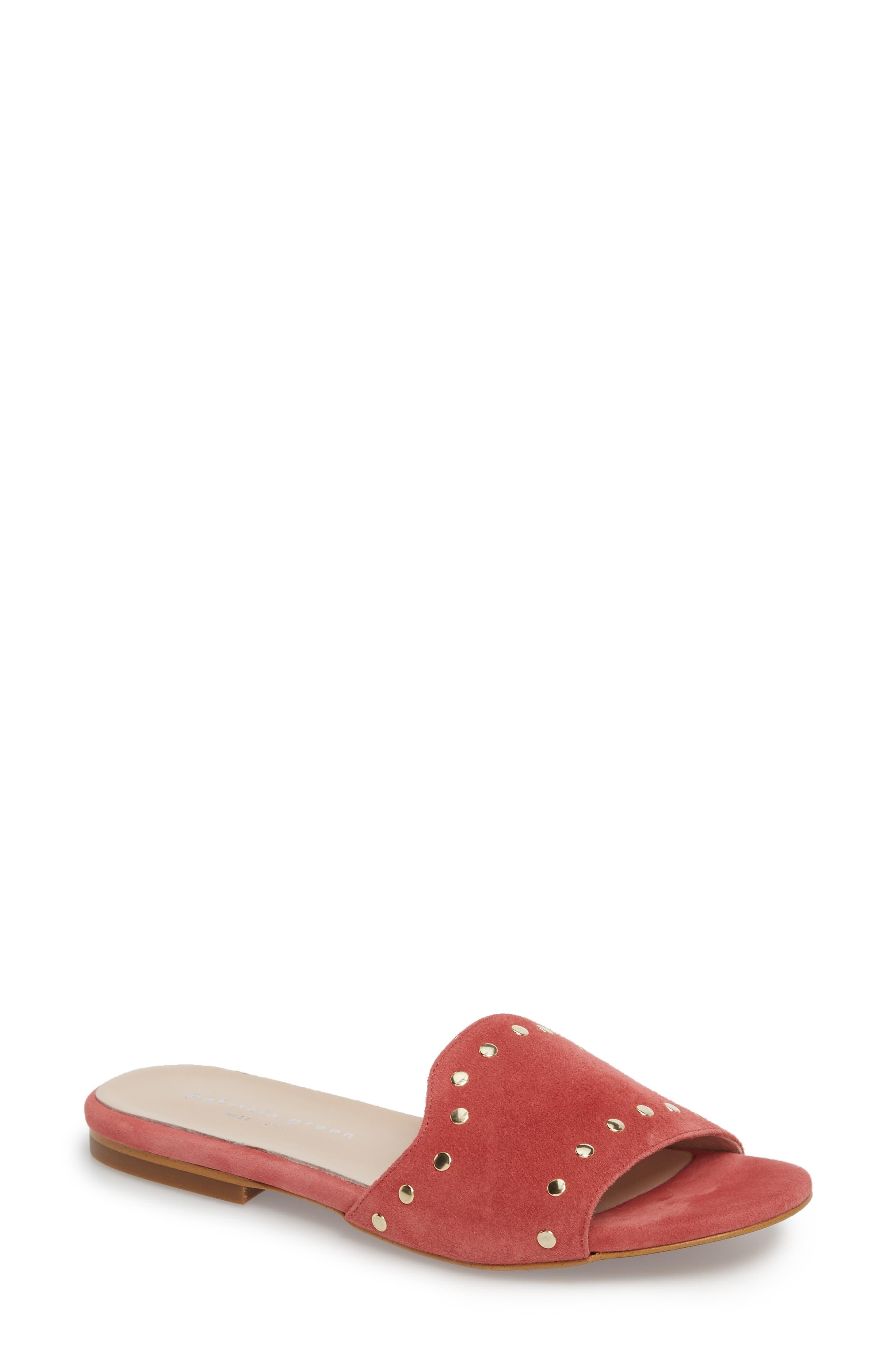 Mira Slide Sandal,                         Main,                         color, Rose Suede