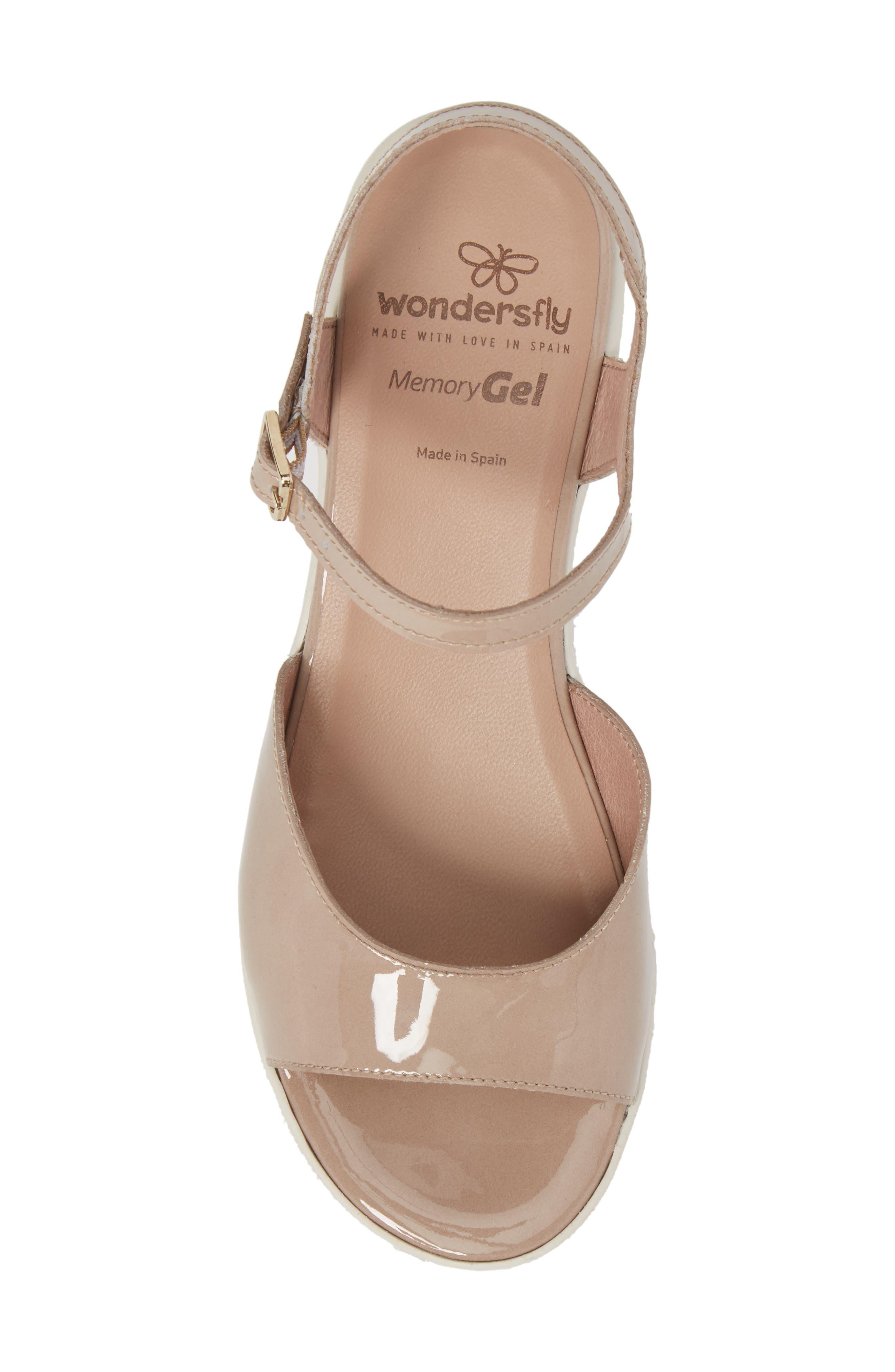 D-8201 Platform Sandal,                             Alternate thumbnail 5, color,                             Taupe Leather