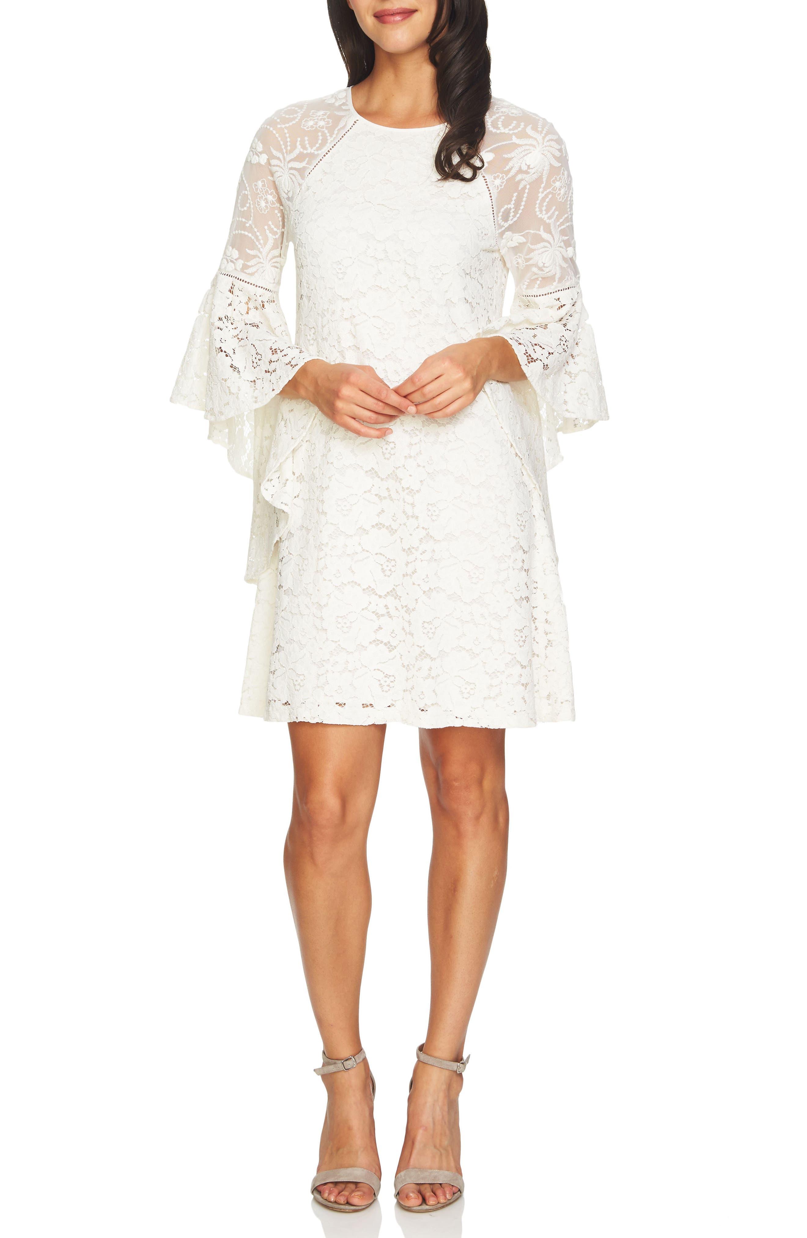 CeCe Keira Floral Lace Shift Dress