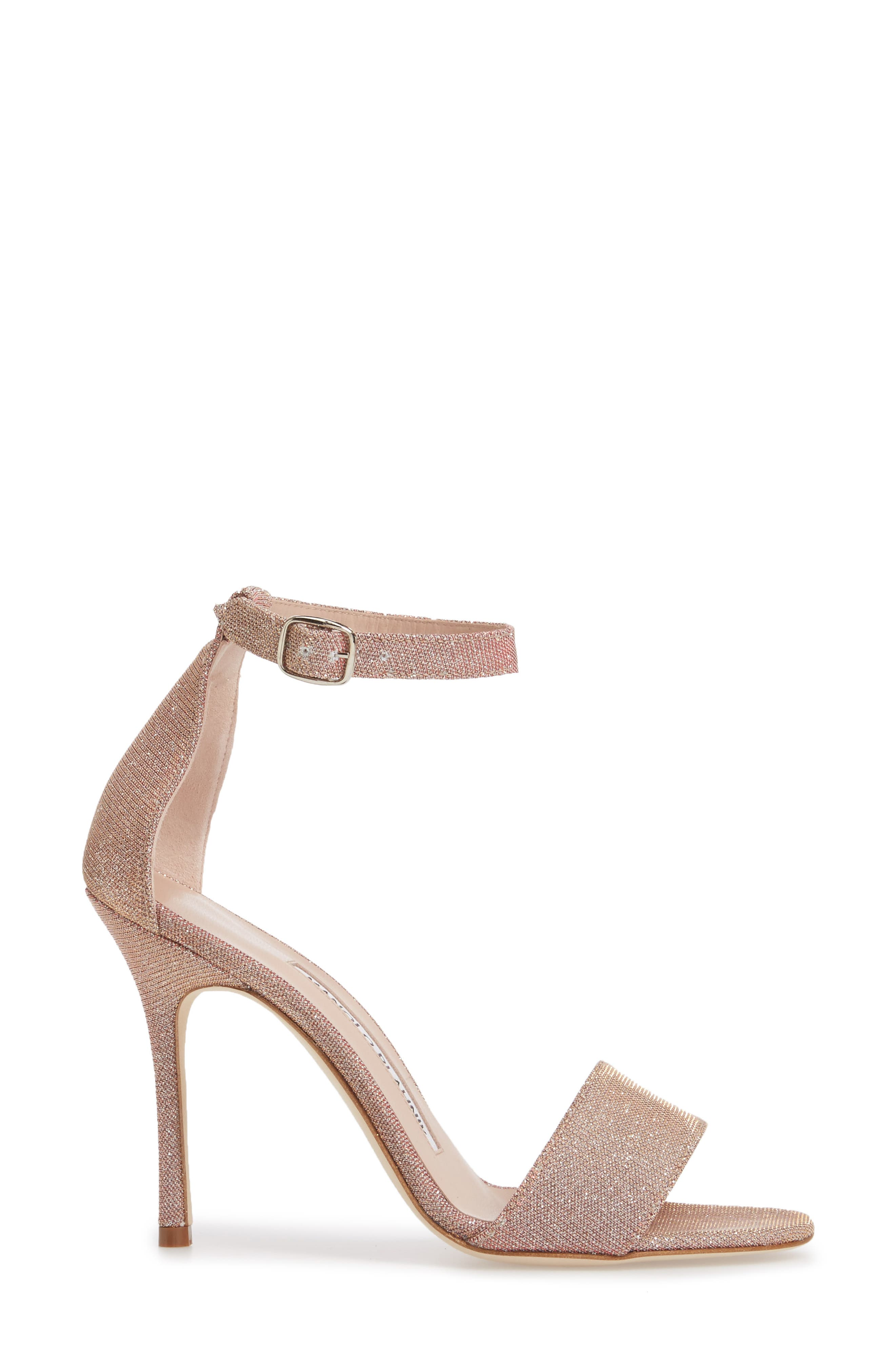 Tres Ankle Strap Sandal,                             Alternate thumbnail 3, color,                             Champagne Notturno