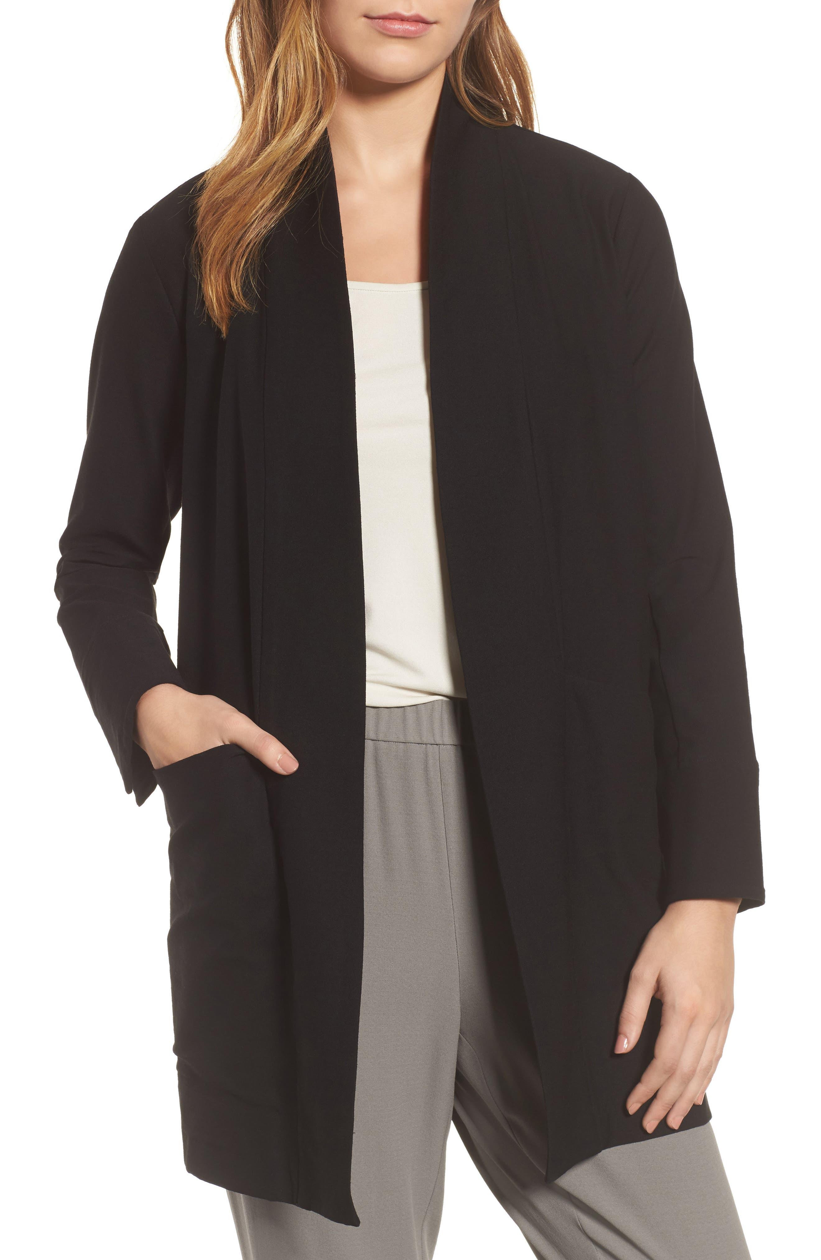 Kimono Jacket,                             Main thumbnail 1, color,                             Black