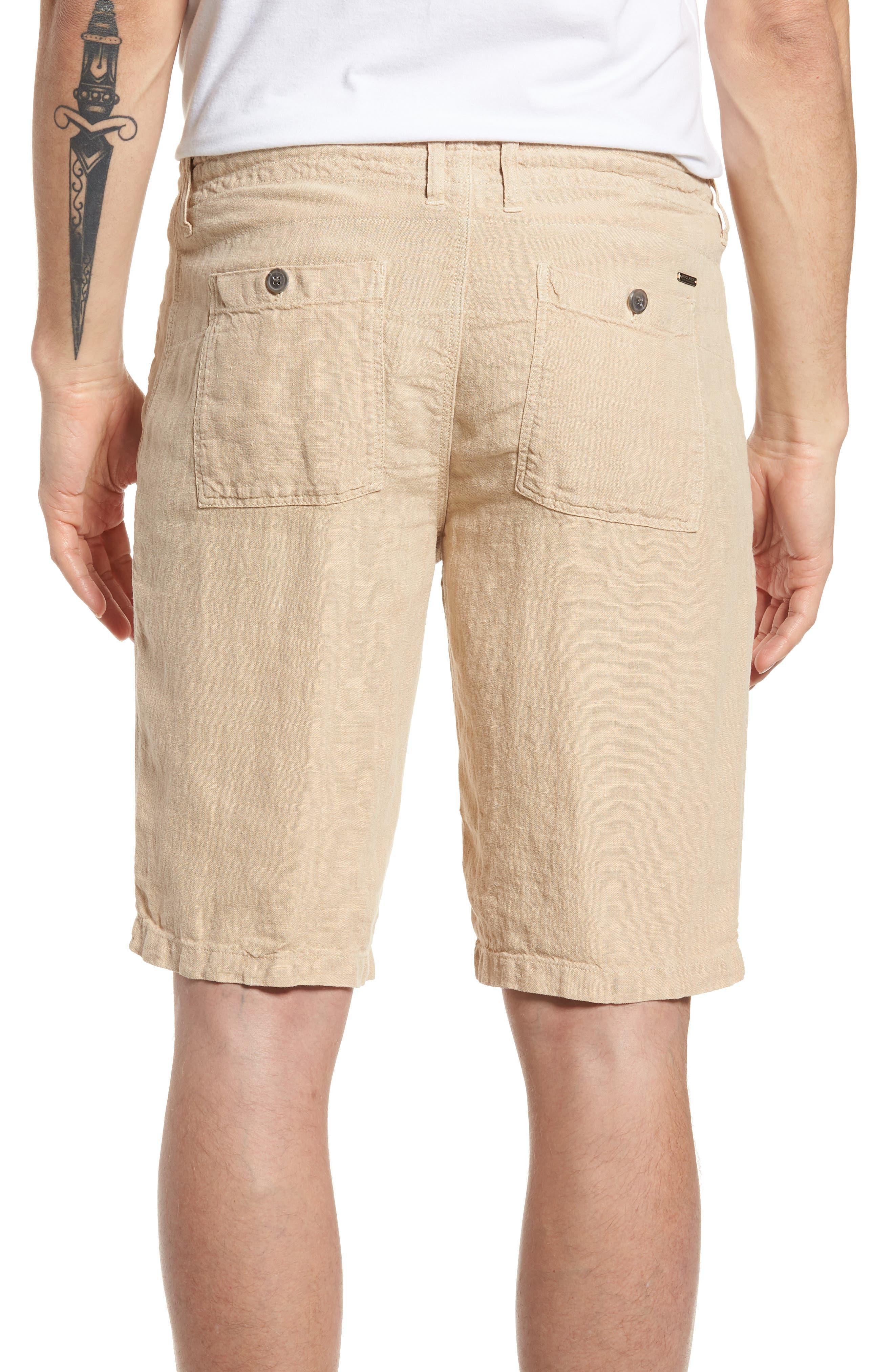 & Bros. Linen Shorts,                             Alternate thumbnail 2, color,                             Desert Dust