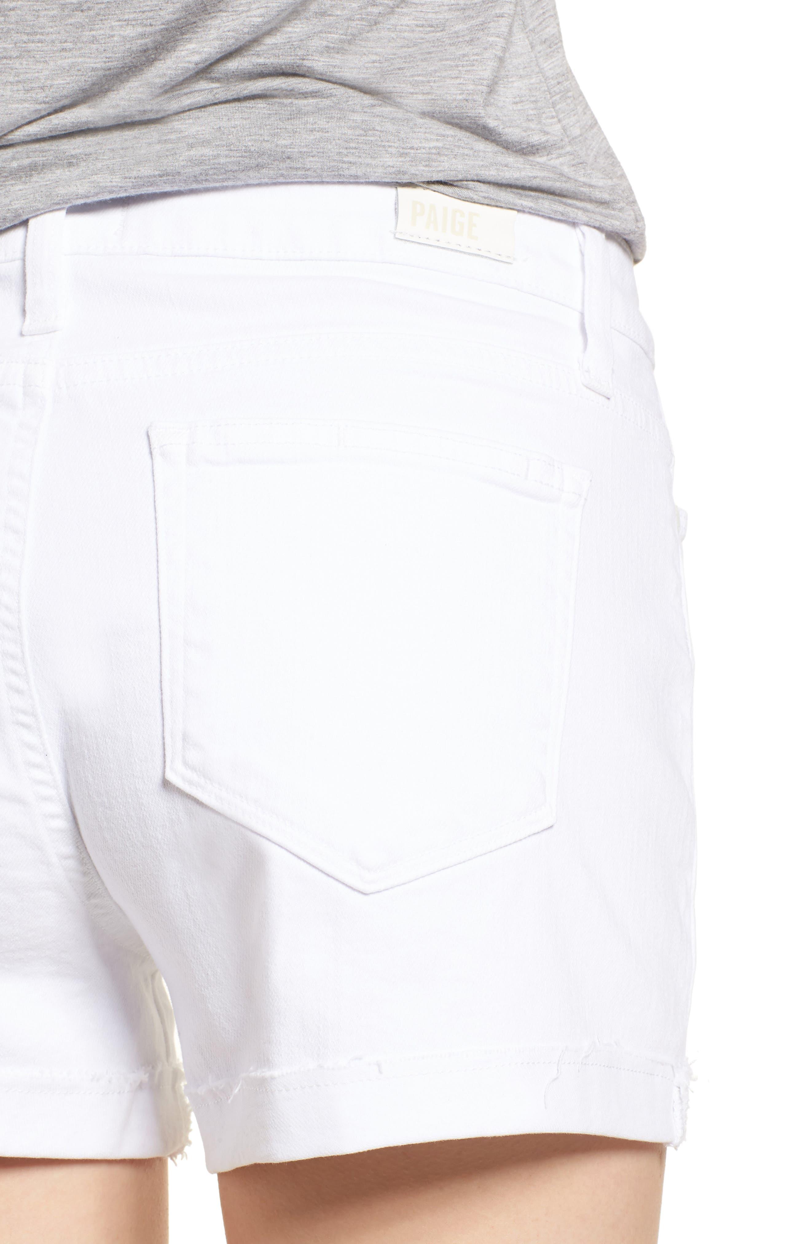Jimmy Jimmy High Waist Denim Shorts,                             Alternate thumbnail 4, color,                             Crisp White