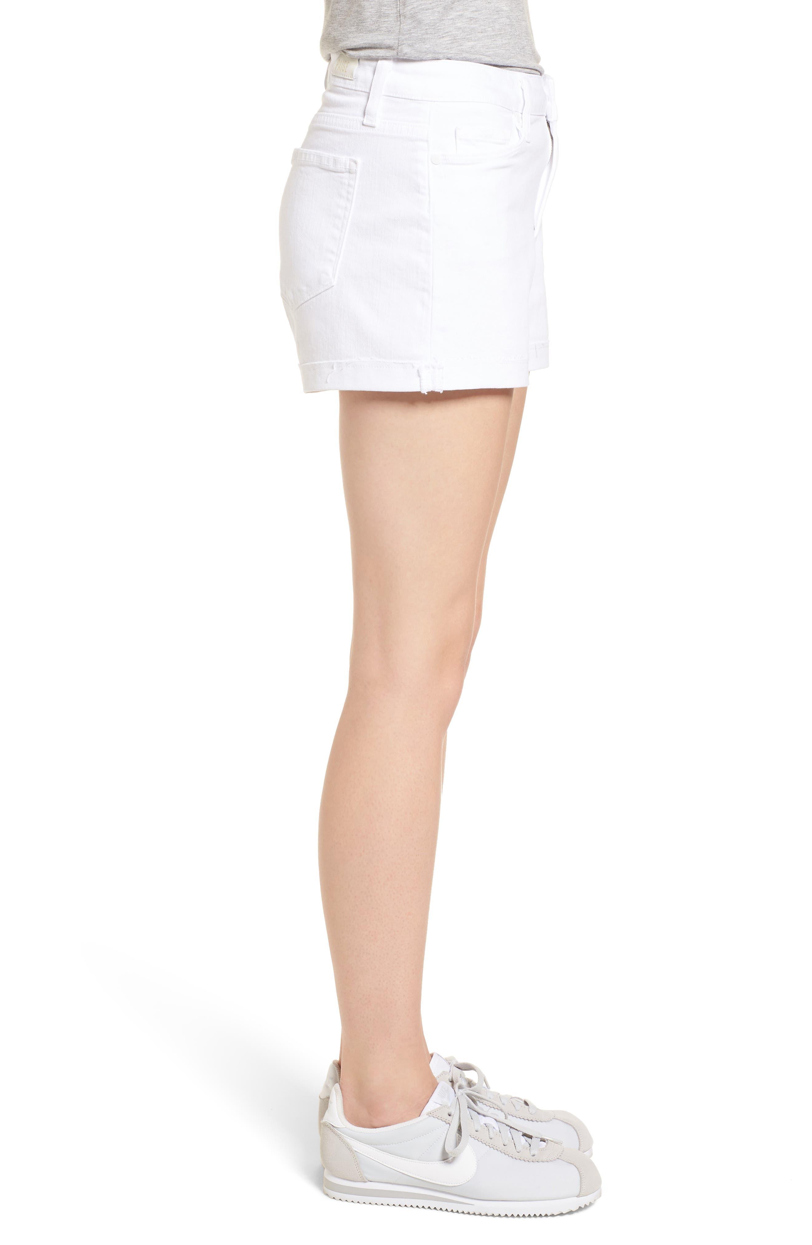Jimmy Jimmy High Waist Denim Shorts,                             Alternate thumbnail 3, color,                             Crisp White