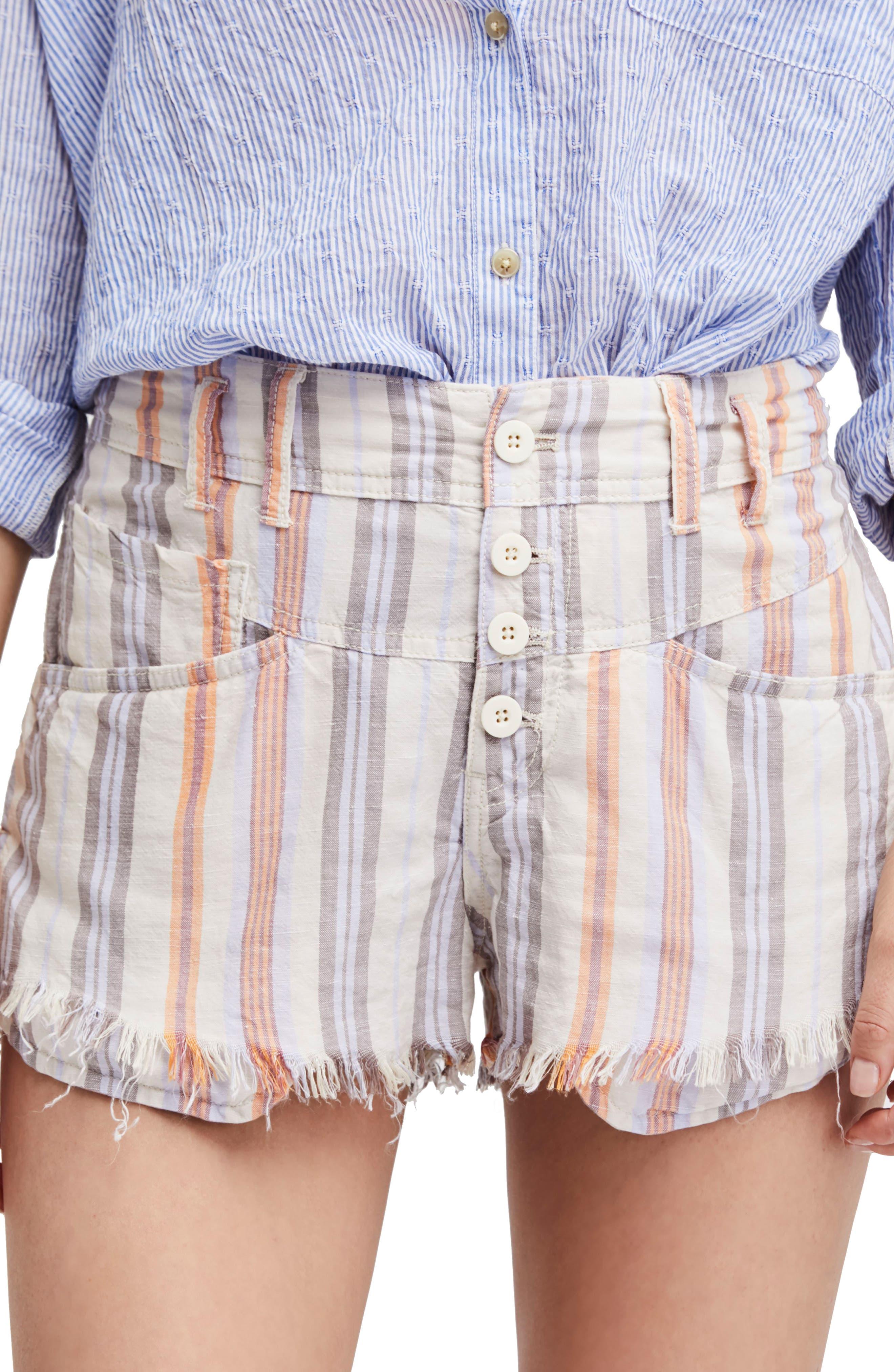 Morning Rain Cutoff Shorts,                         Main,                         color, Nude
