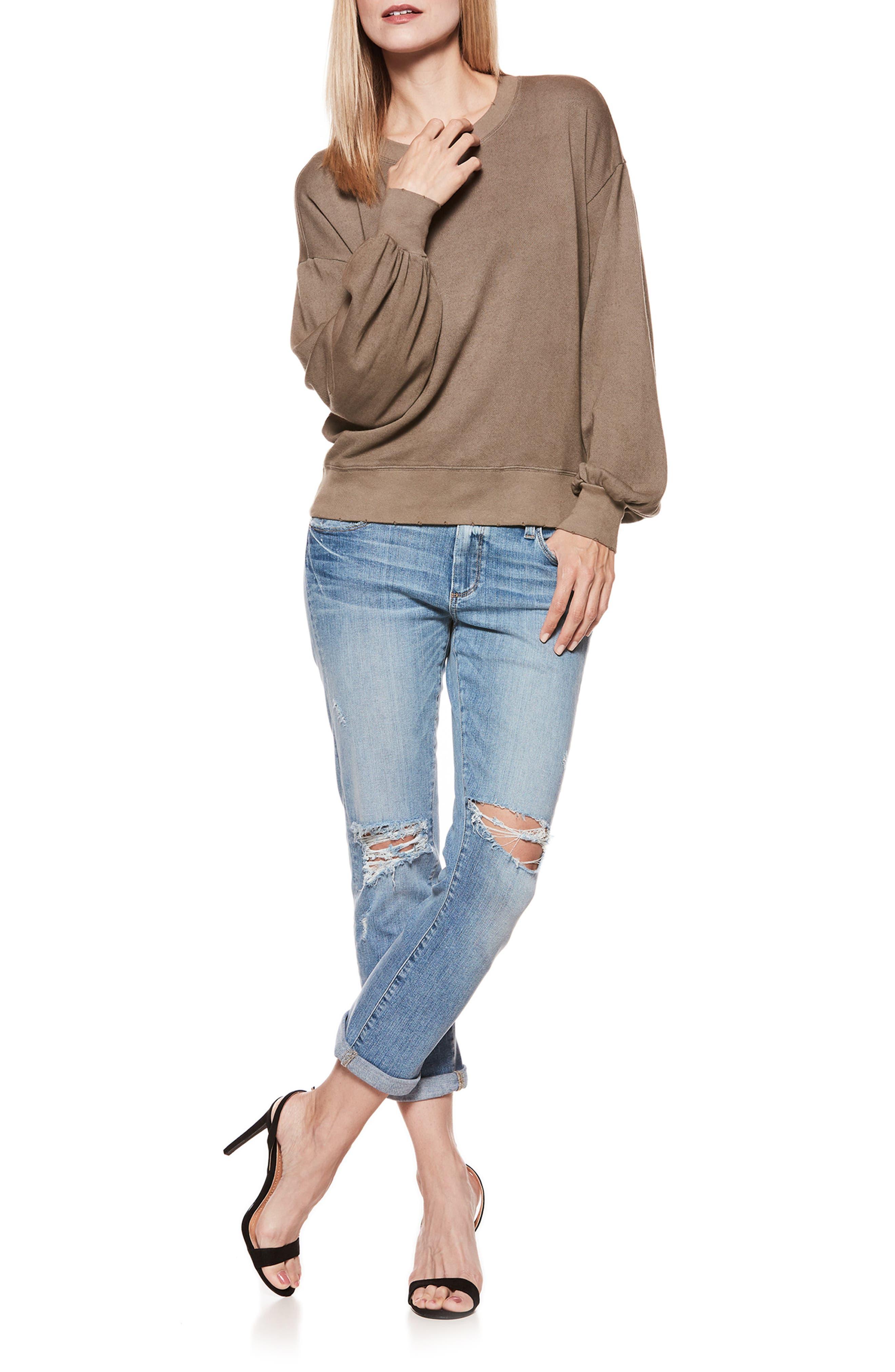 Cortlynn Sweatshirt,                             Alternate thumbnail 3, color,                             Tanned Olive