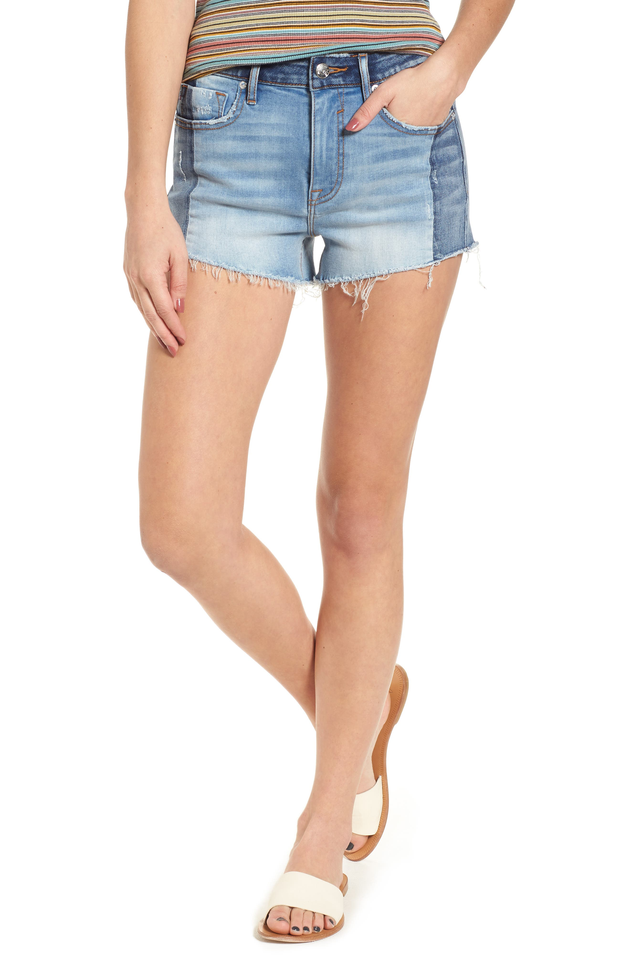 Vigoss Colorblock Denim Shorts
