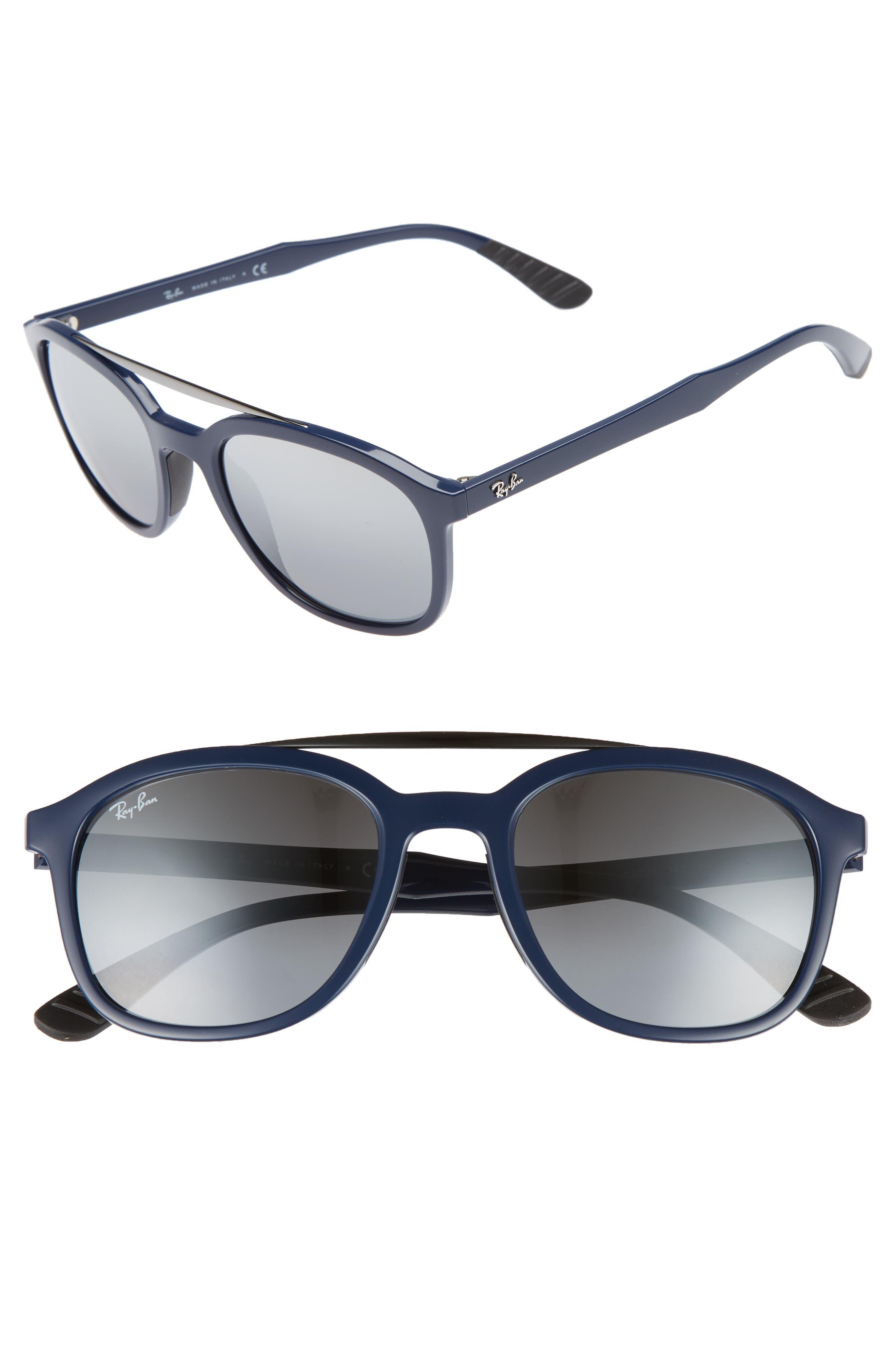 Active Lifestyle 53mm Sunglasses,                             Main thumbnail 1, color,                             Blue