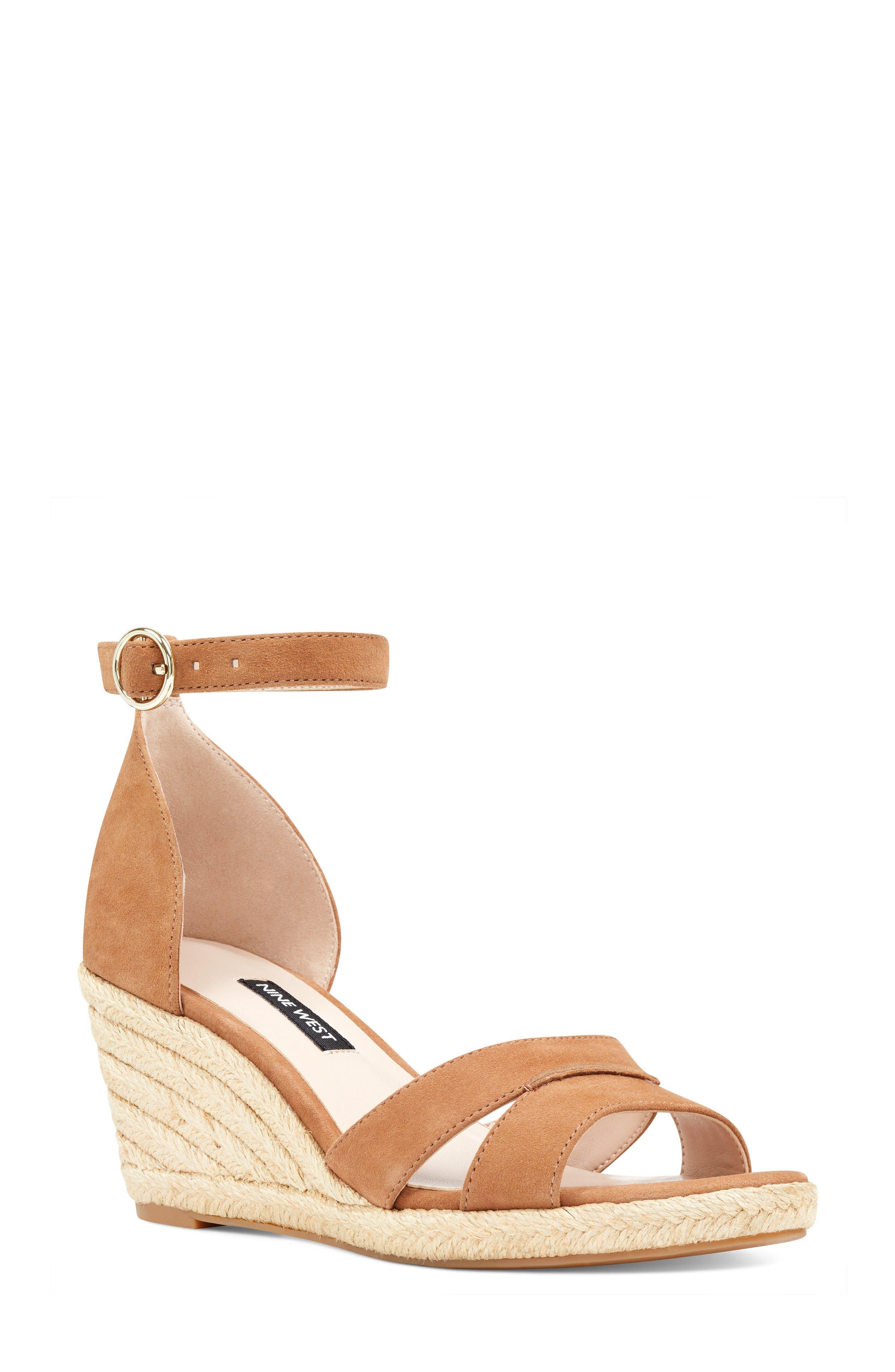 Jeranna Espadrille Wedge Sandal,                         Main,                         color, Dark Natural Suede