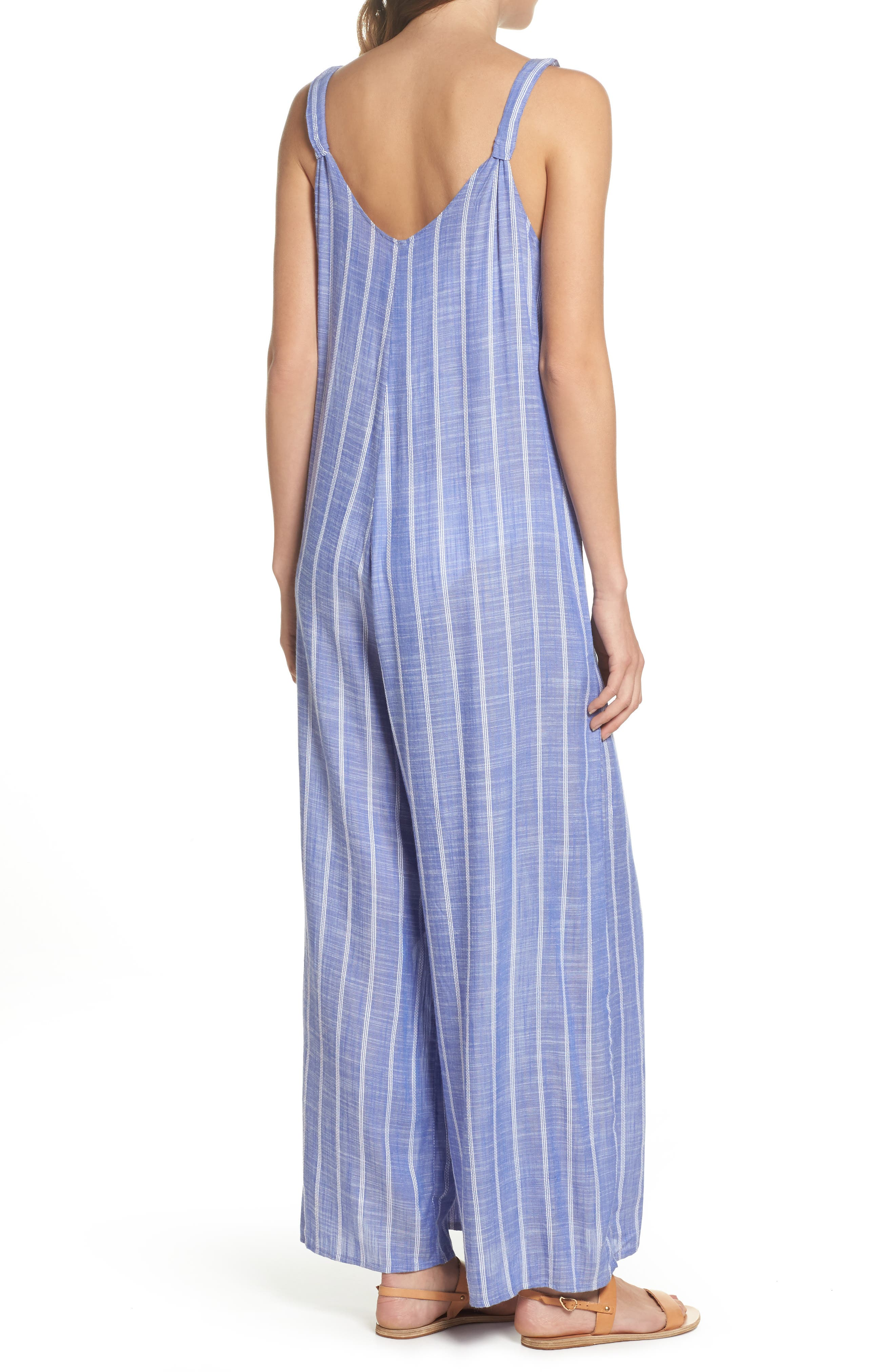 Cover-Up Jumpsuit,                             Alternate thumbnail 2, color,                             Blue Stripe (Chambray)