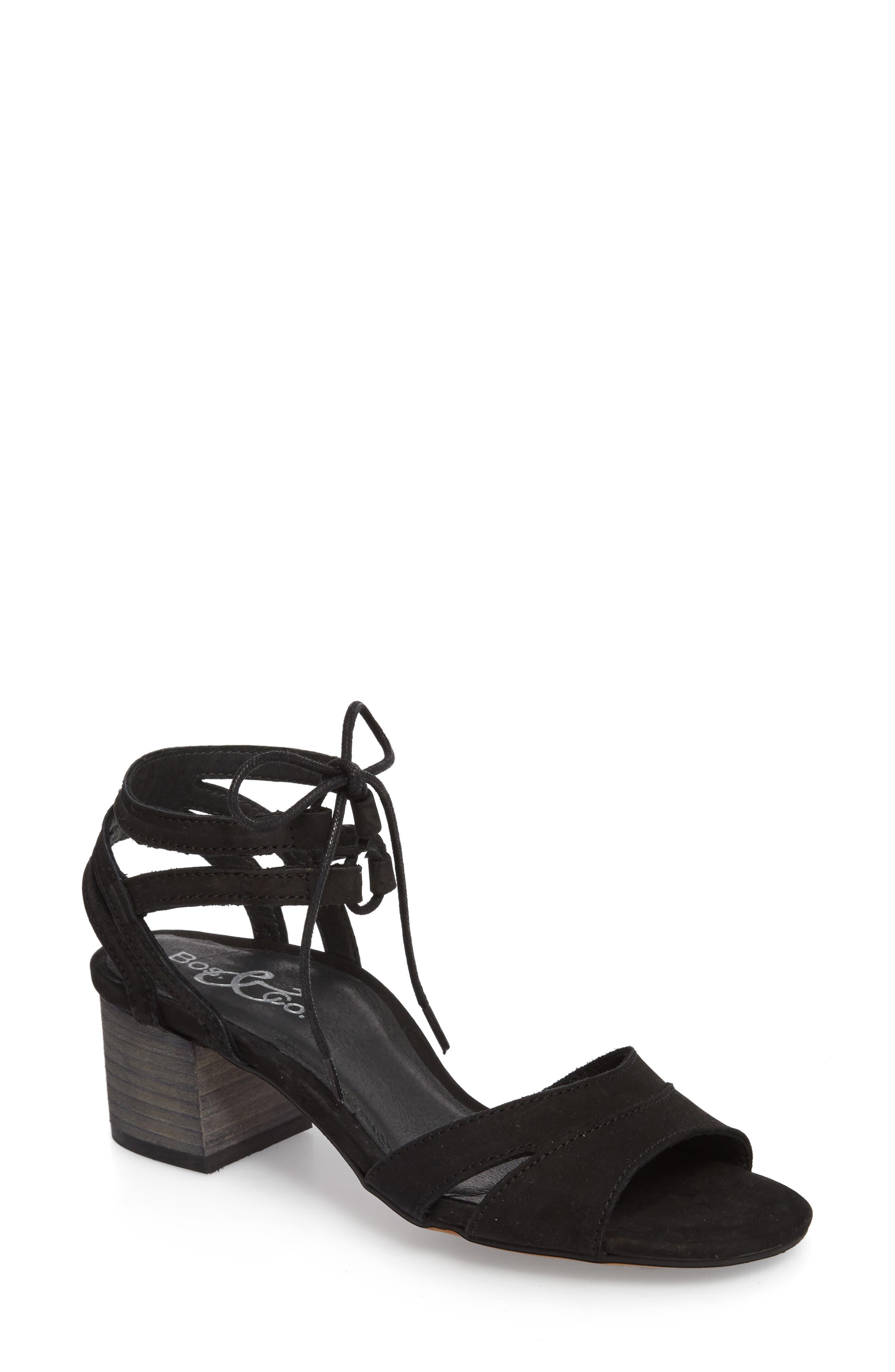 Zorita Sandal,                             Main thumbnail 1, color,                             Black Nubuck Leather