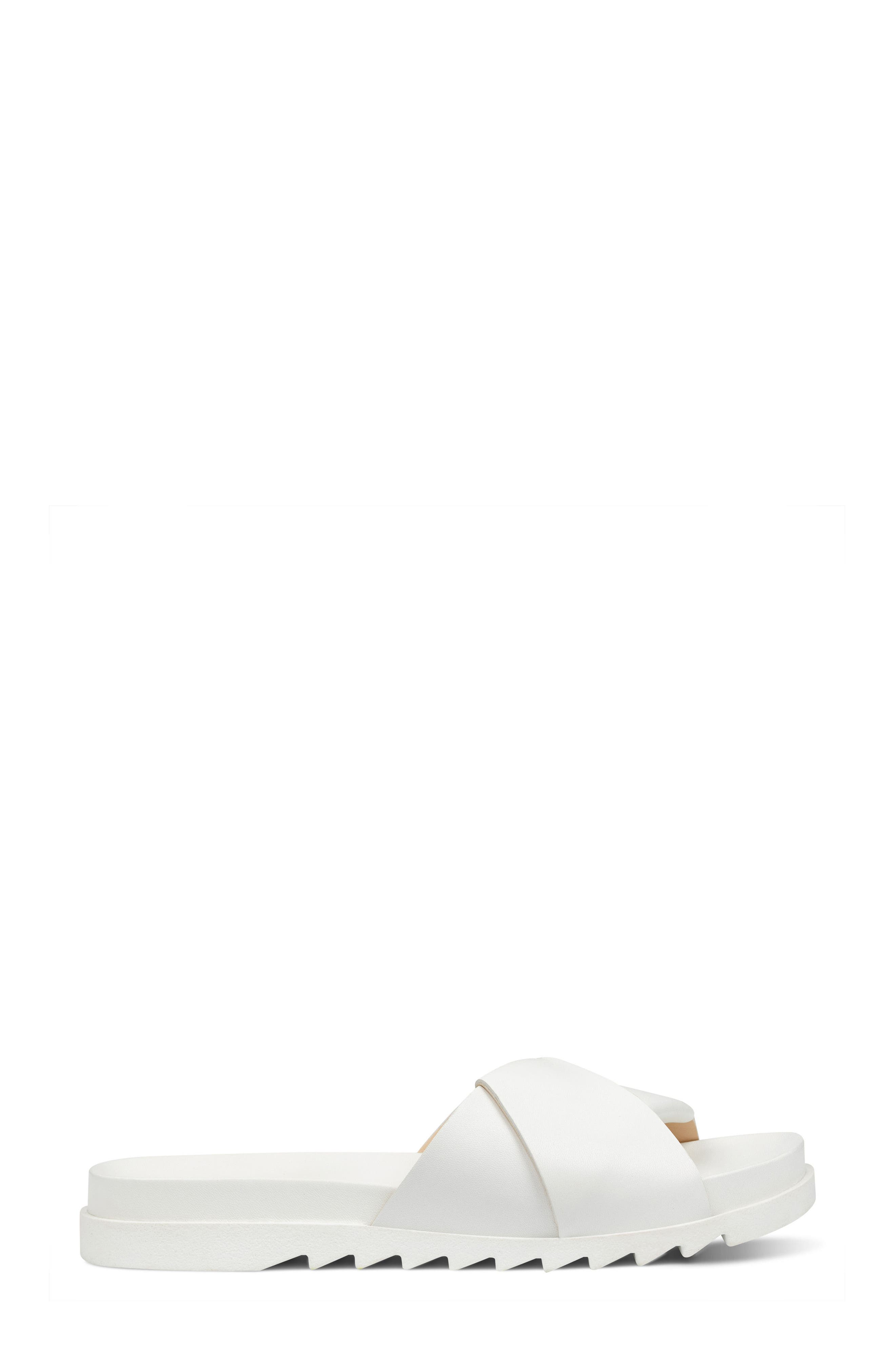 Furaish Slide Sandal,                             Alternate thumbnail 3, color,                             White Leather
