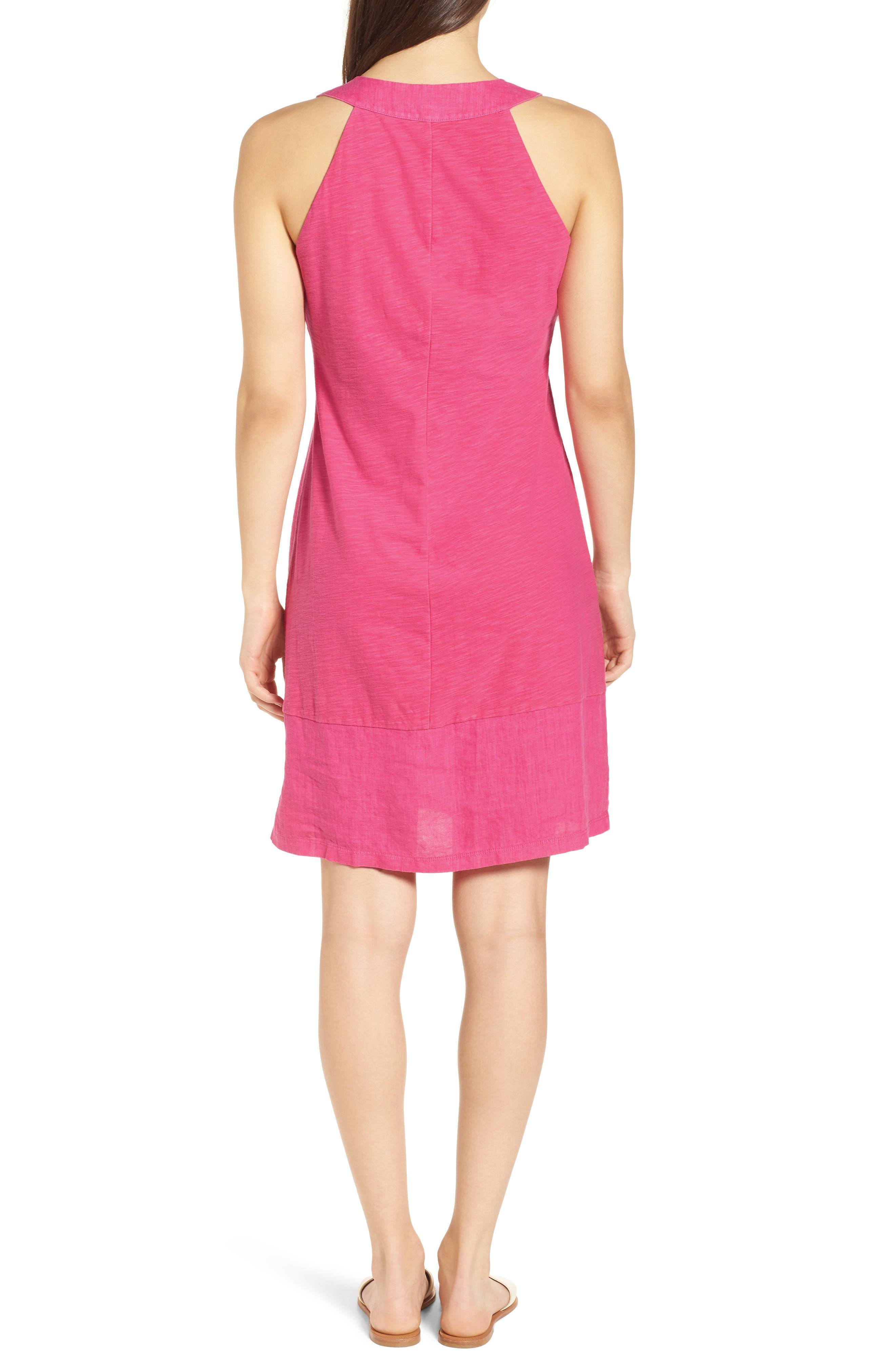 Arden Shift Dress,                             Alternate thumbnail 2, color,                             Bright Blush