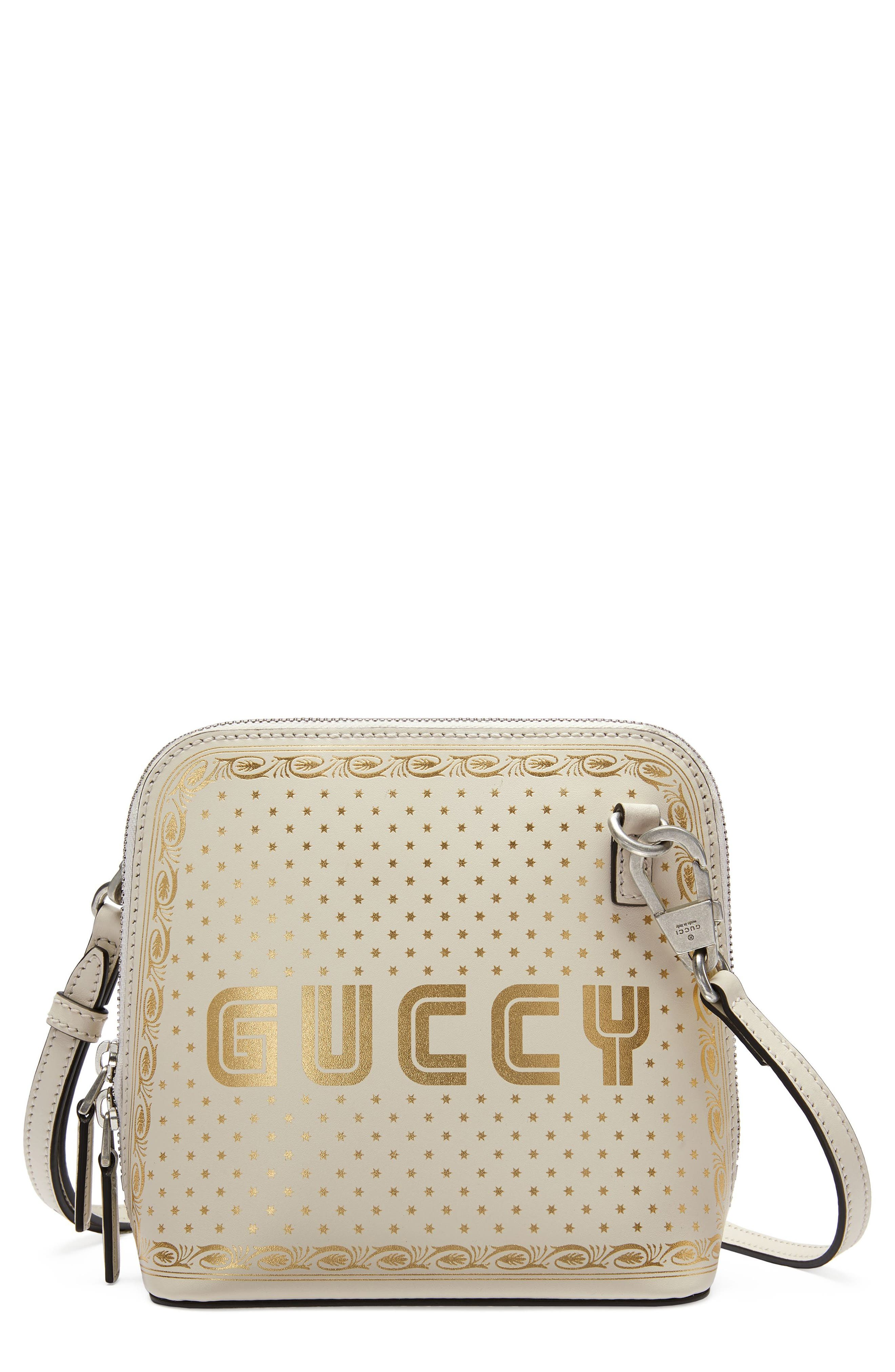 Alternate Image 1 Selected - Gucci Guccy Logo Moon & Stars Leather Crossbody Bag