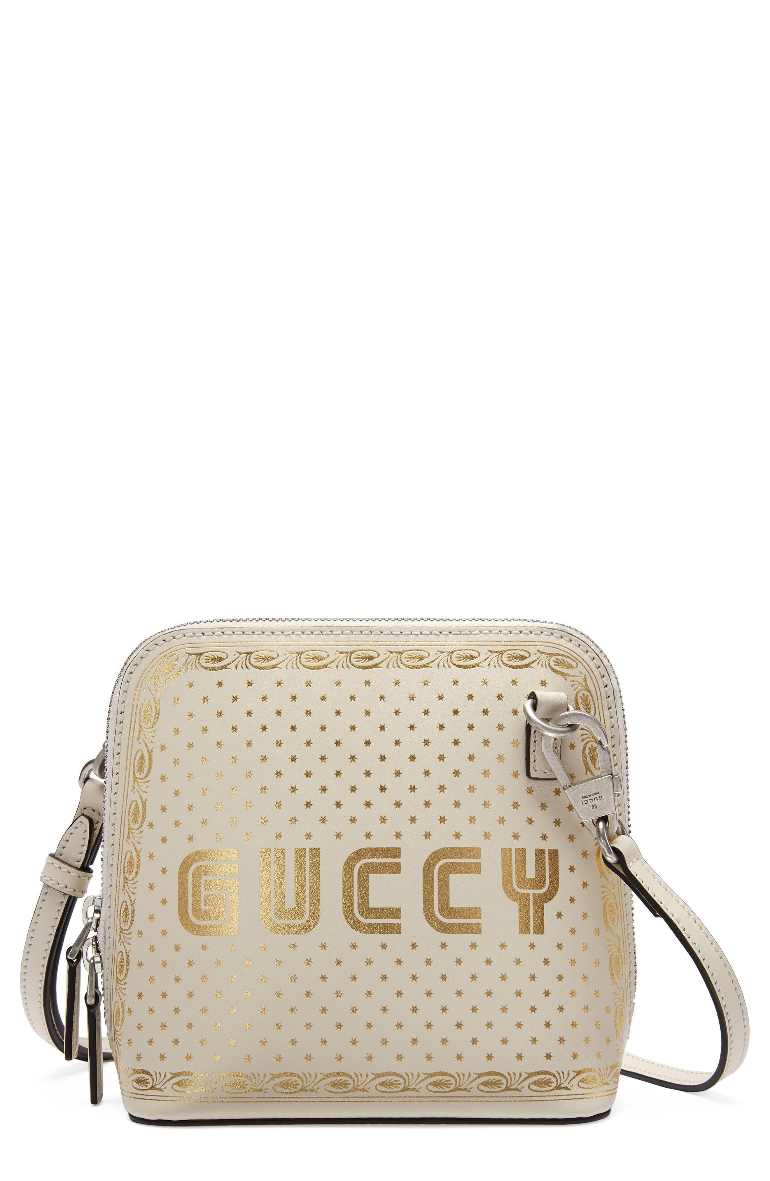 Main Image - Gucci Guccy Logo Moon & Stars Leather Crossbody Bag