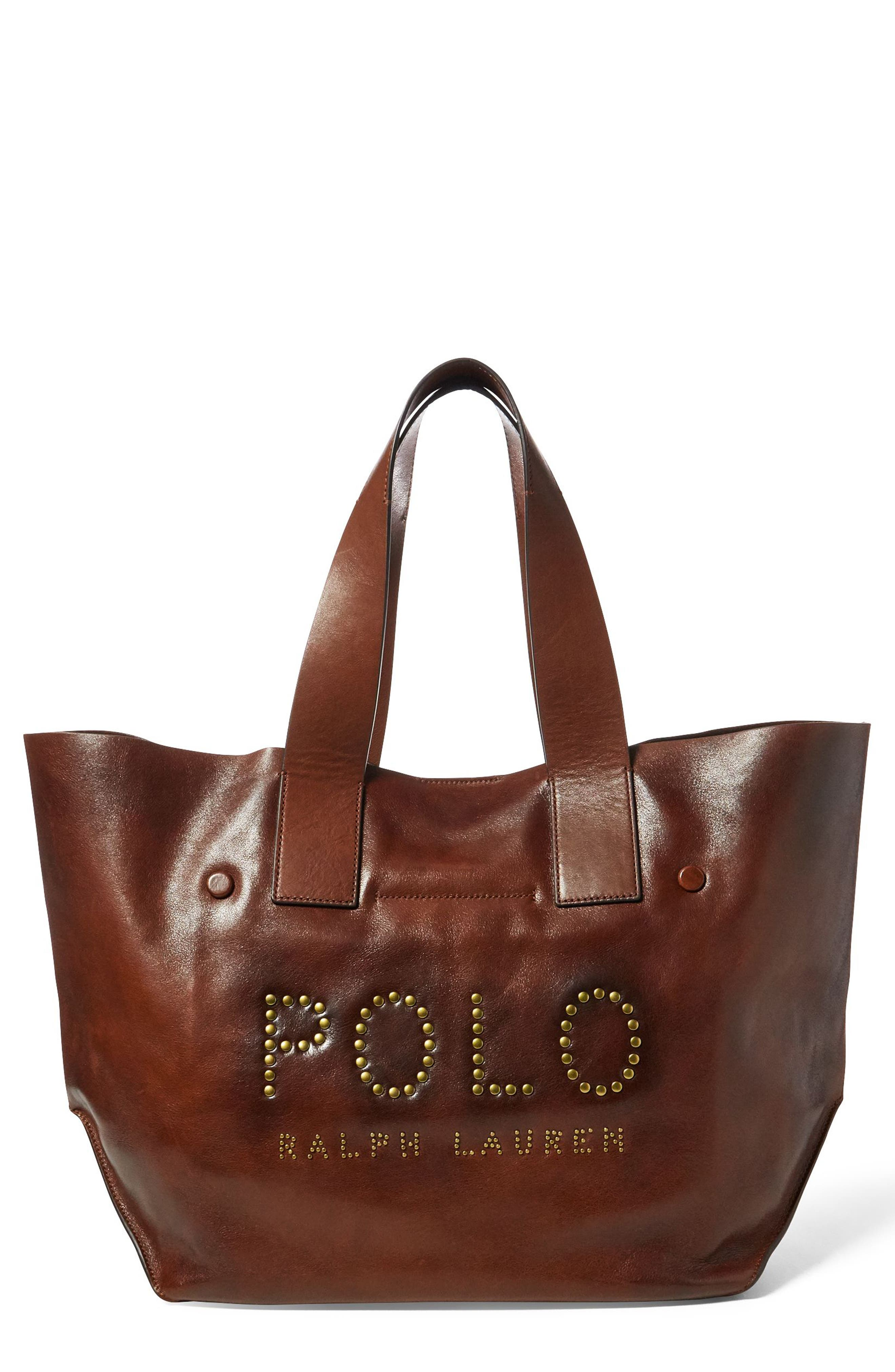 Polo Ralph Lauren Leather Market Tote