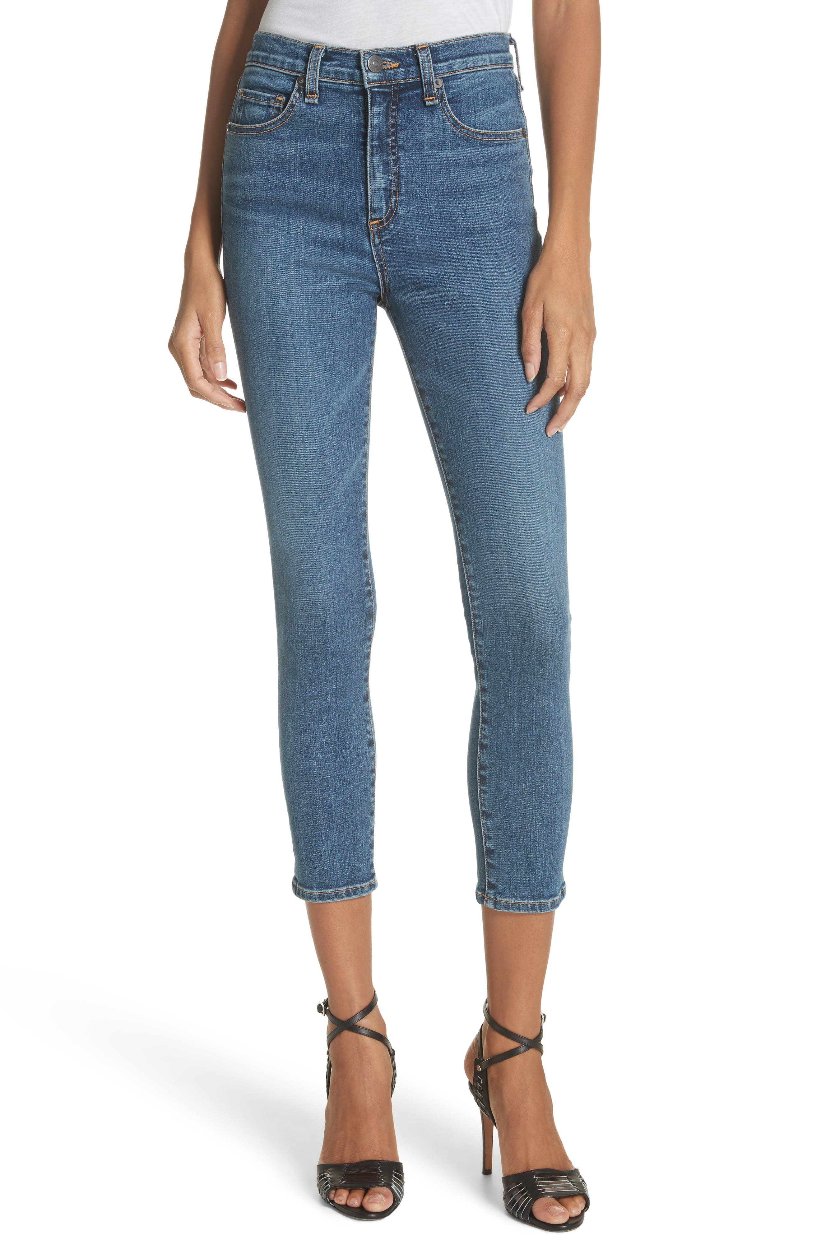 Kate Crop Skinny Jeans,                             Main thumbnail 1, color,                             Classic Wash
