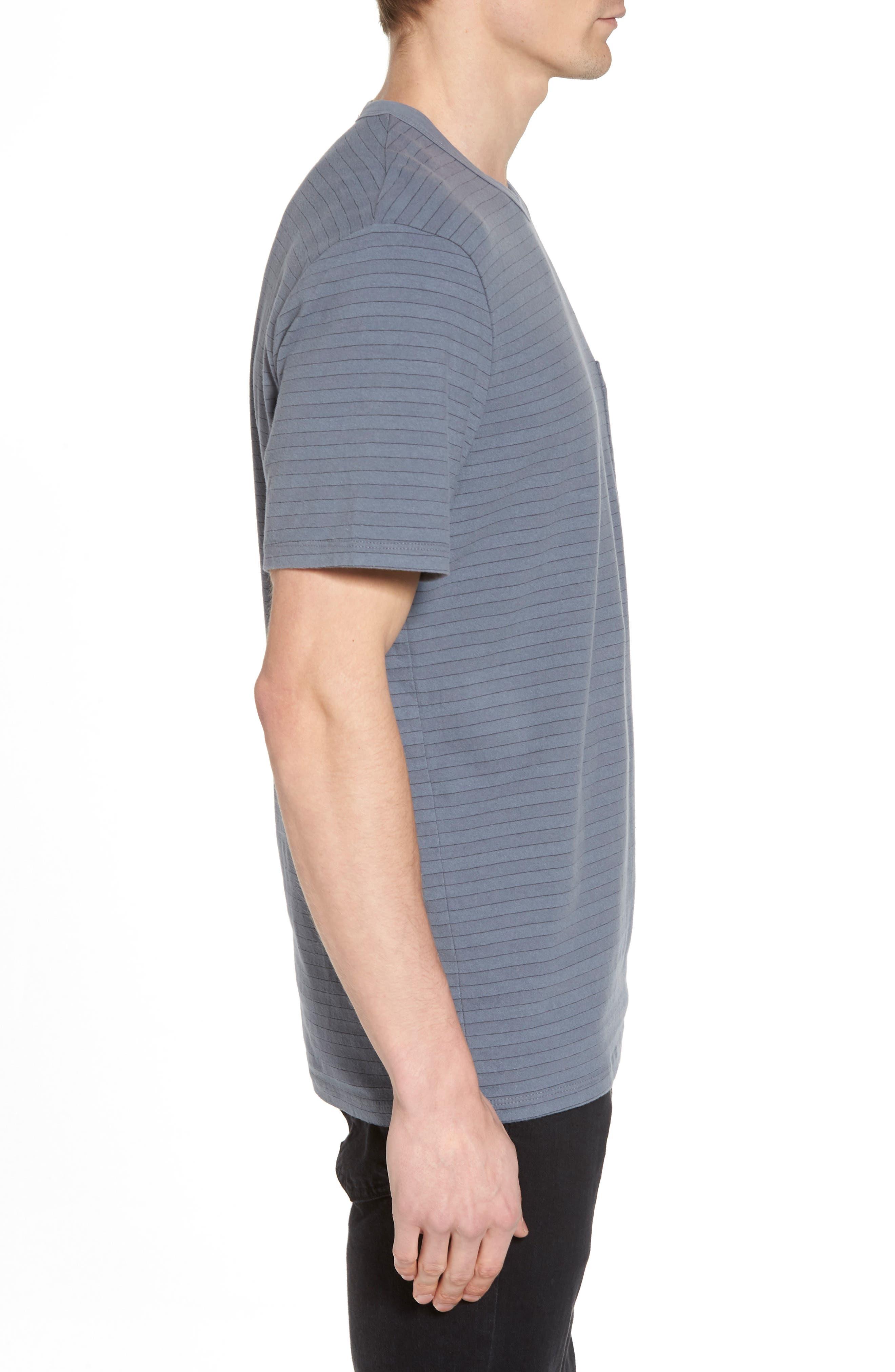 Alternate Image 3  - James Perse Shadow Stripe Pocket T-Shirt