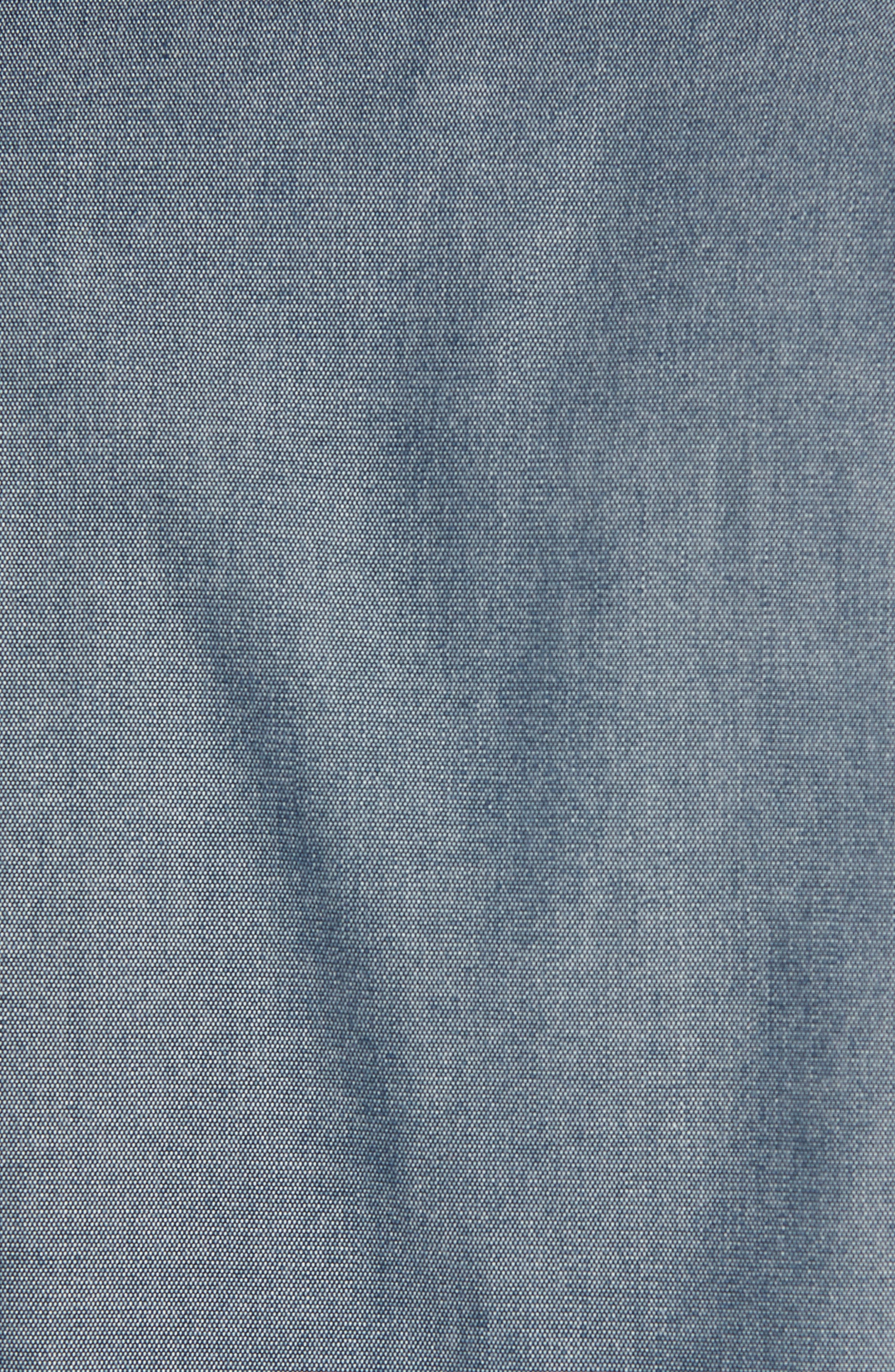 Harrington Jacket,                             Alternate thumbnail 5, color,                             Blue Vintage Chambray