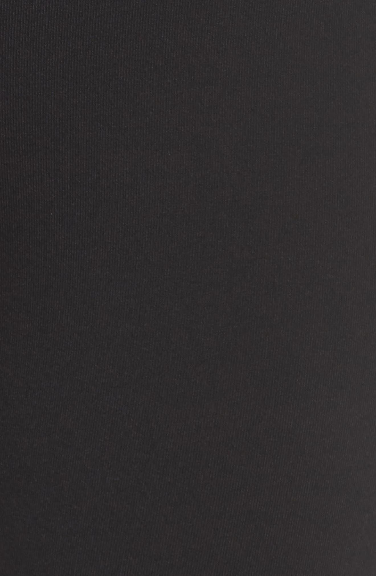 High Waist Airbrush Midi Leggings,                             Alternate thumbnail 6, color,                             Black