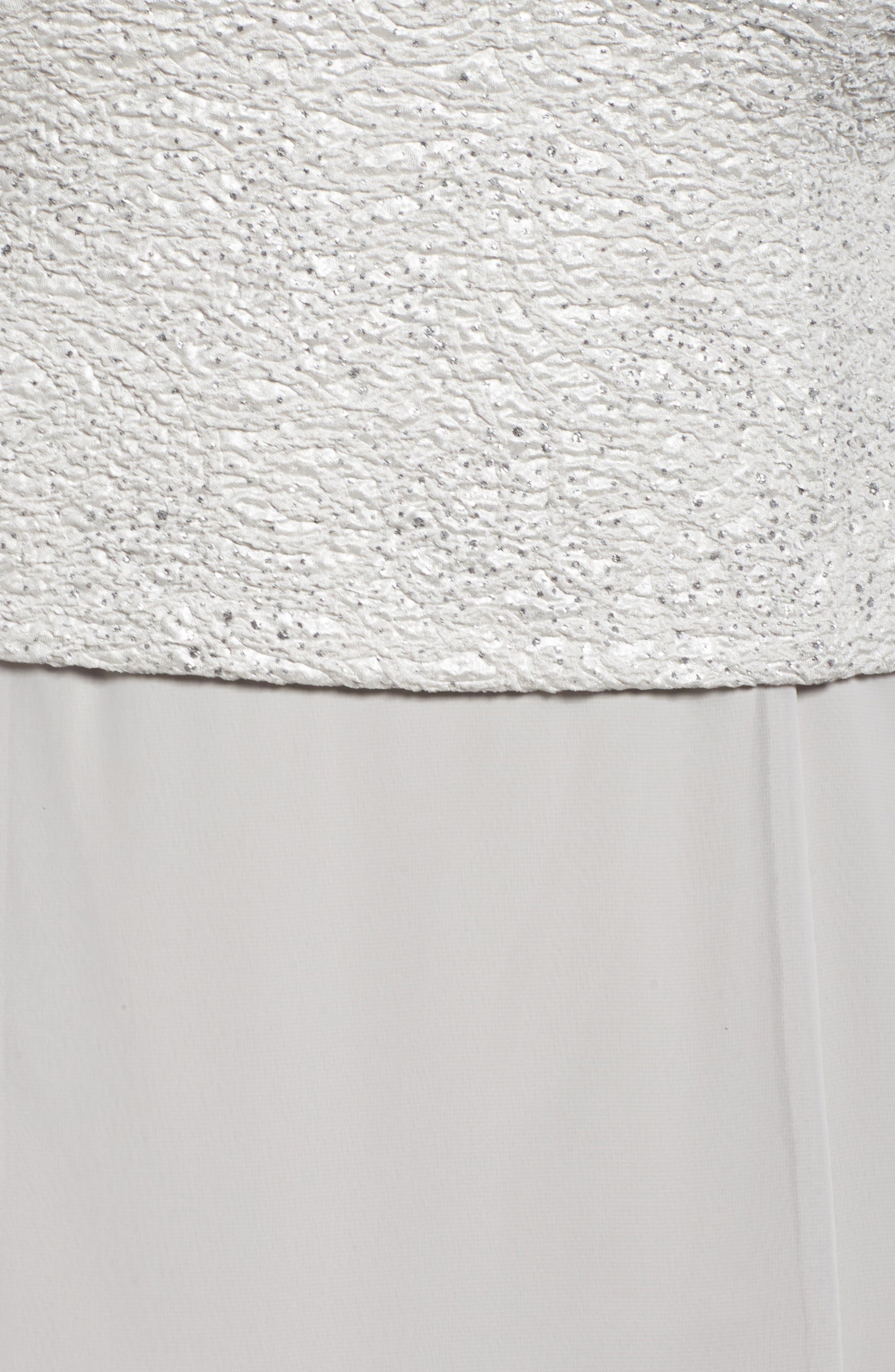 Mock Two-Piece Jacket Dress,                             Alternate thumbnail 3, color,                             Silver