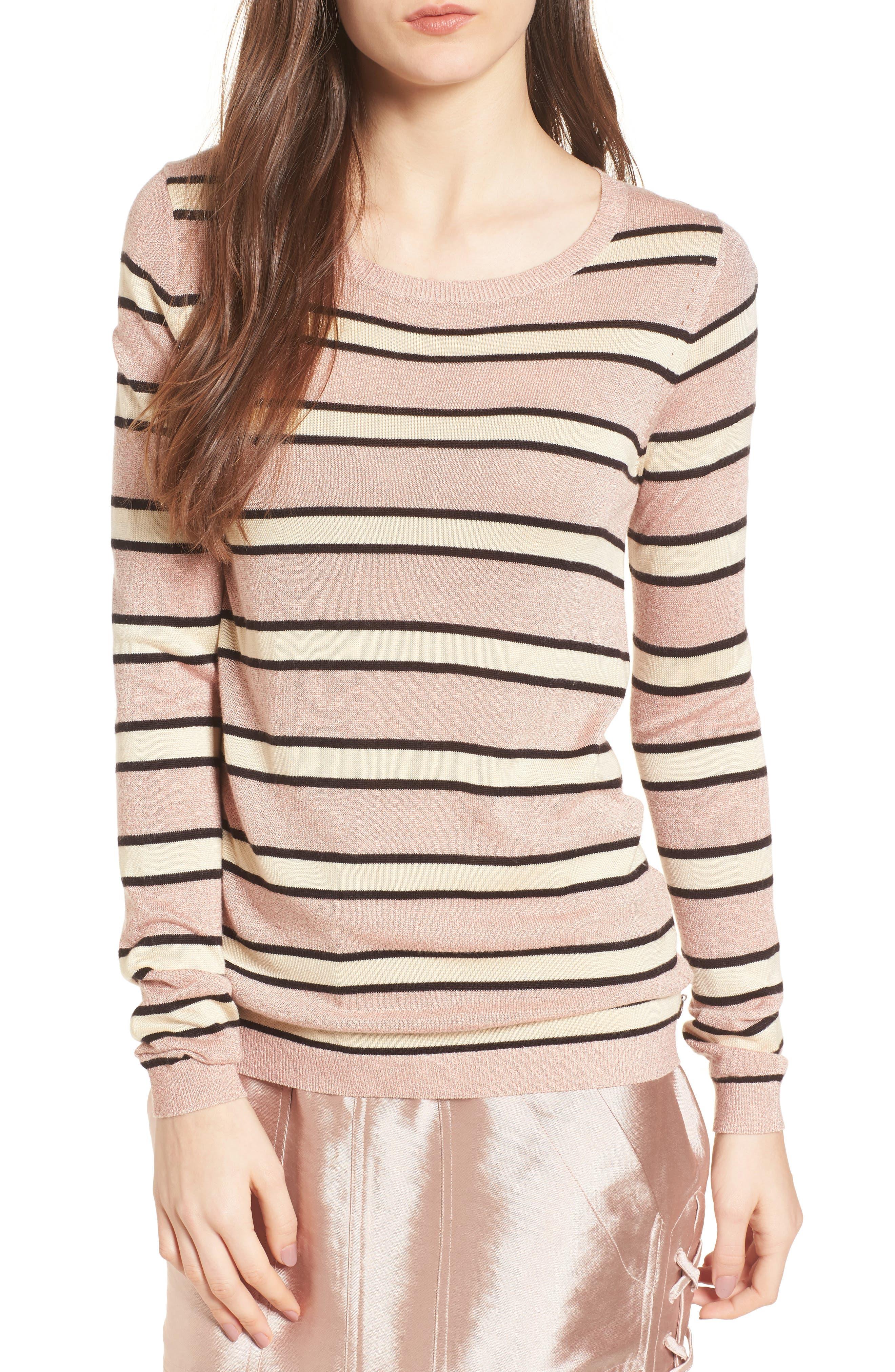 Stripe Sweater,                             Main thumbnail 1, color,                             Combo B