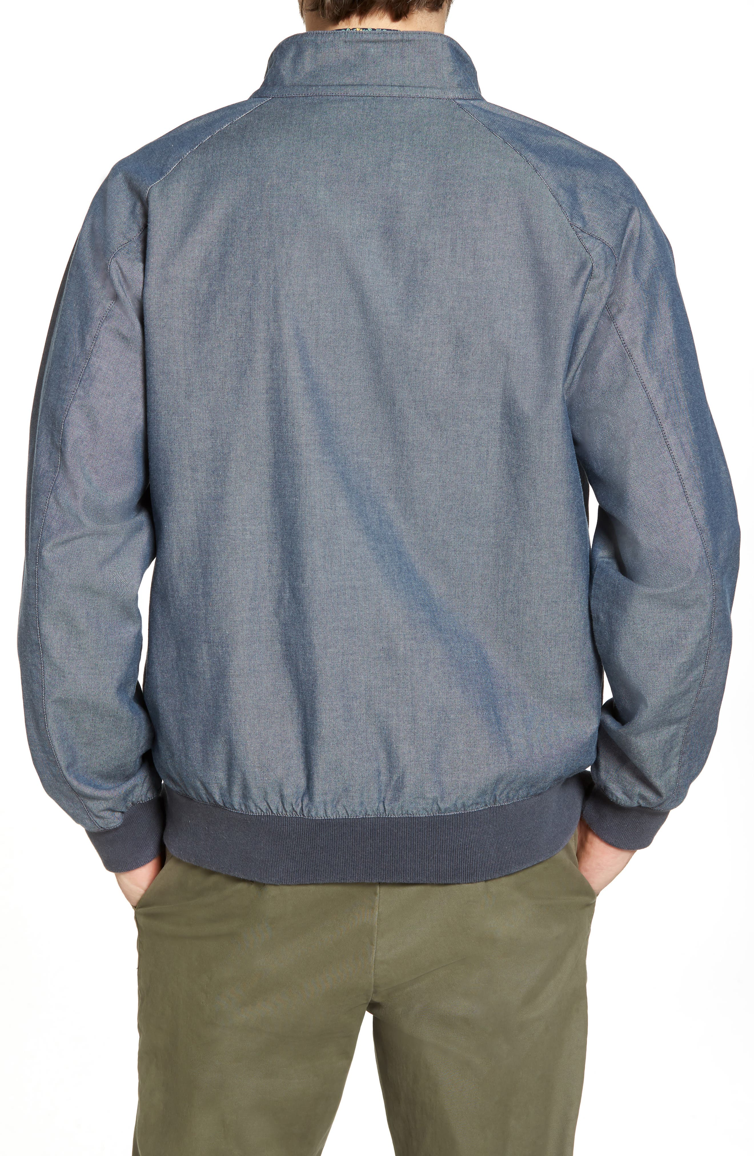 Harrington Jacket,                             Alternate thumbnail 2, color,                             Blue Vintage Chambray