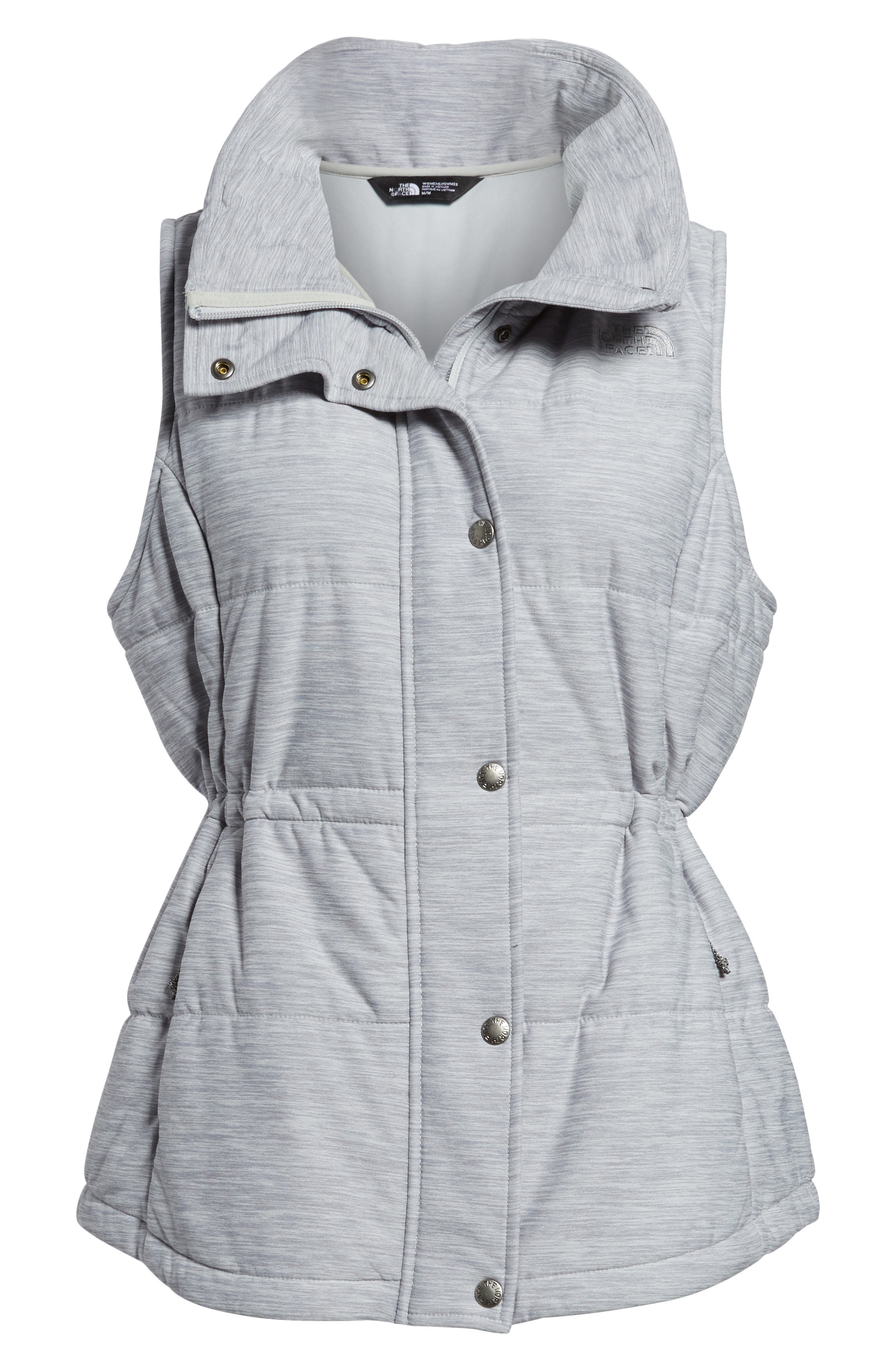 'Pseudio' Quilted Vest,                             Alternate thumbnail 8, color,                             Light Grey Heather