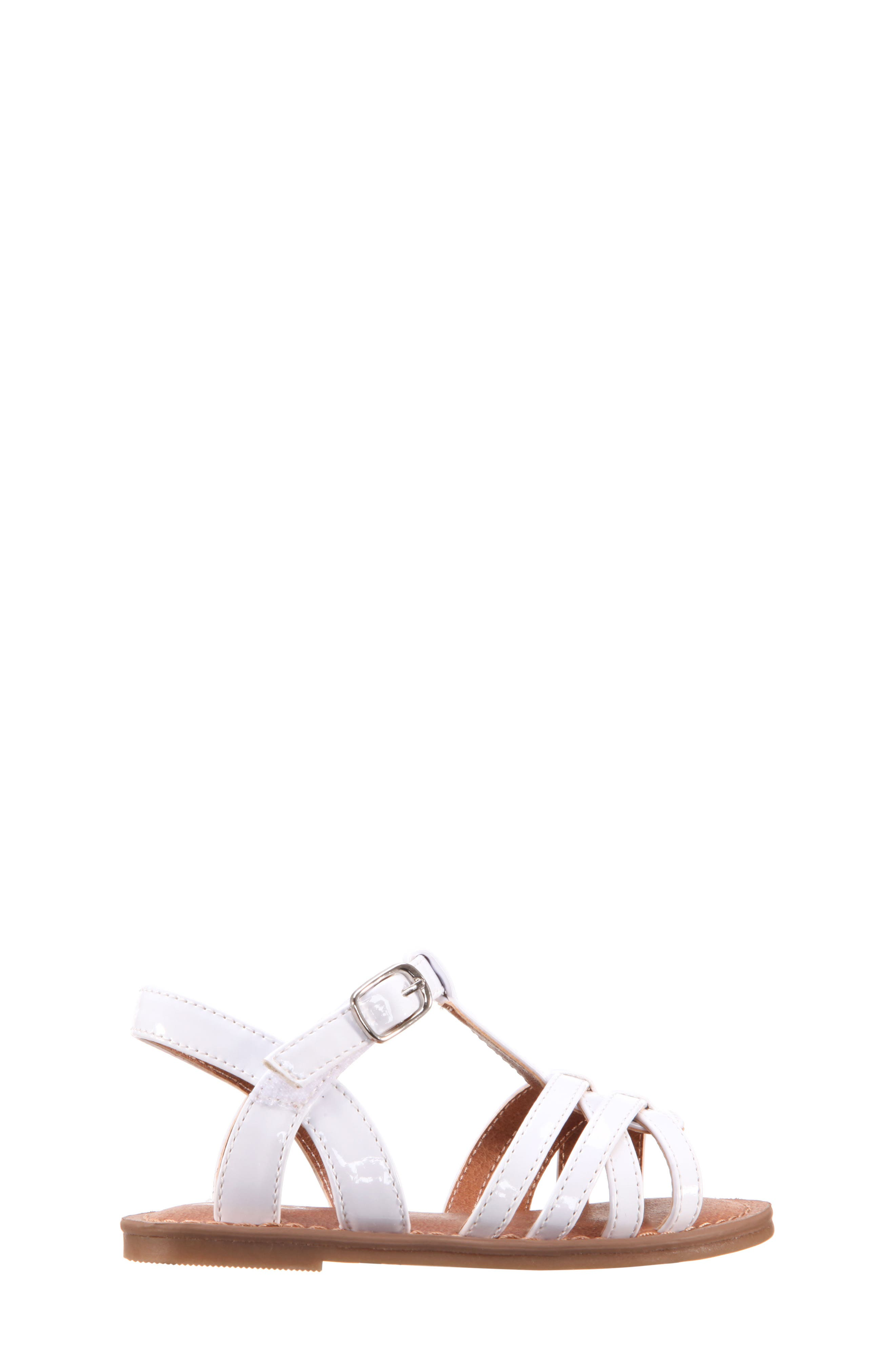 Thereasa Ankle Strap Sandal,                             Alternate thumbnail 3, color,                             White Patent