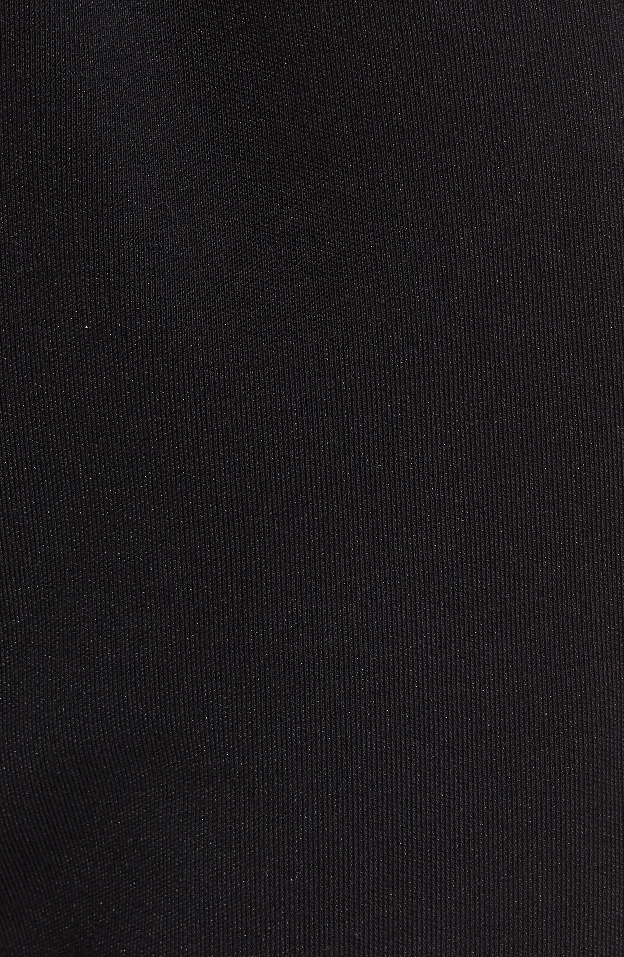 Reverse Tricot Track Pants,                             Alternate thumbnail 5, color,                             Black