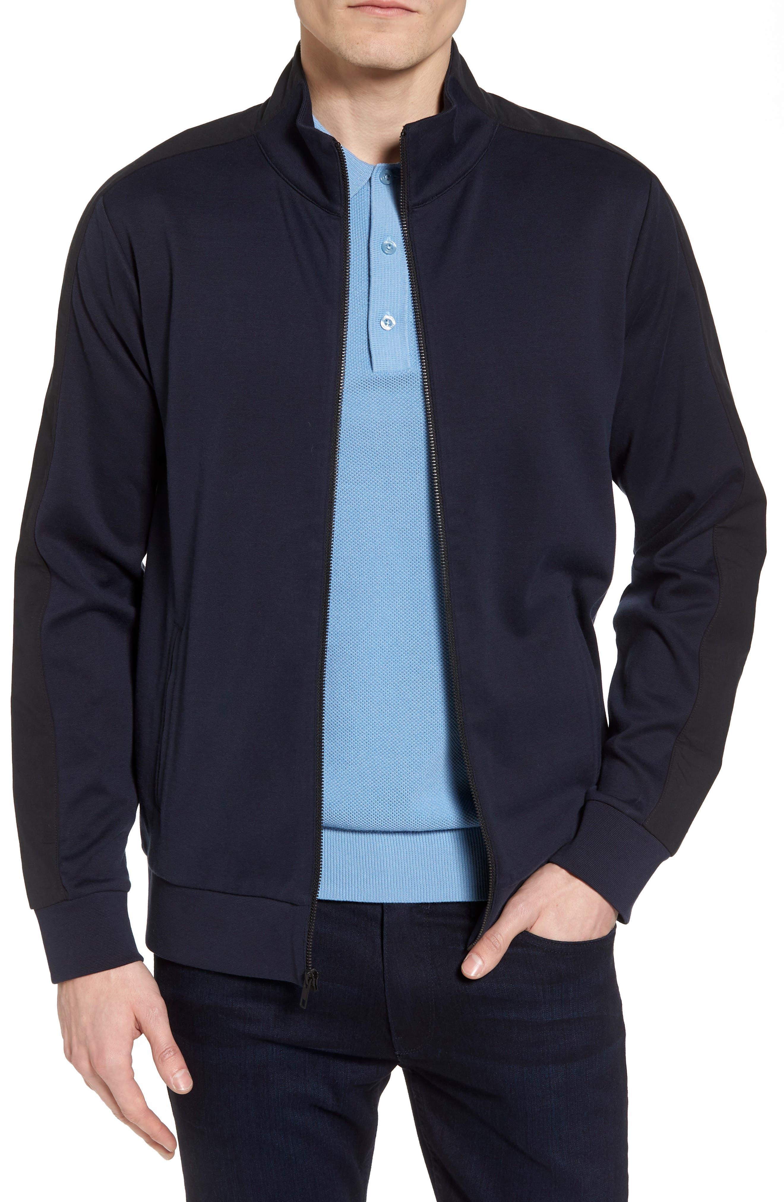 Fleece Jacket,                             Main thumbnail 1, color,                             Navy Night Black