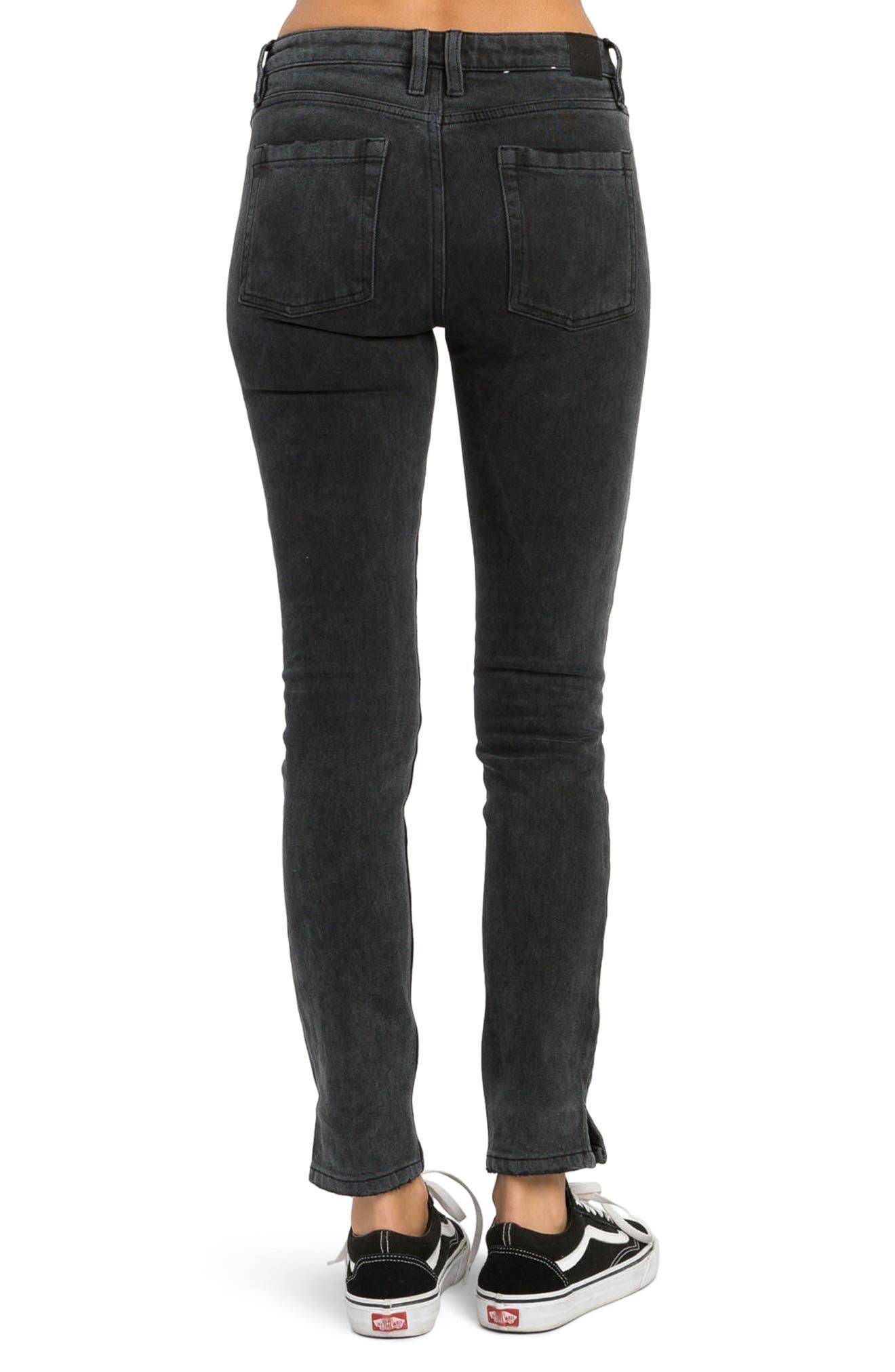 Alternate Image 3  - RVCA Dayley Skinny Jeans
